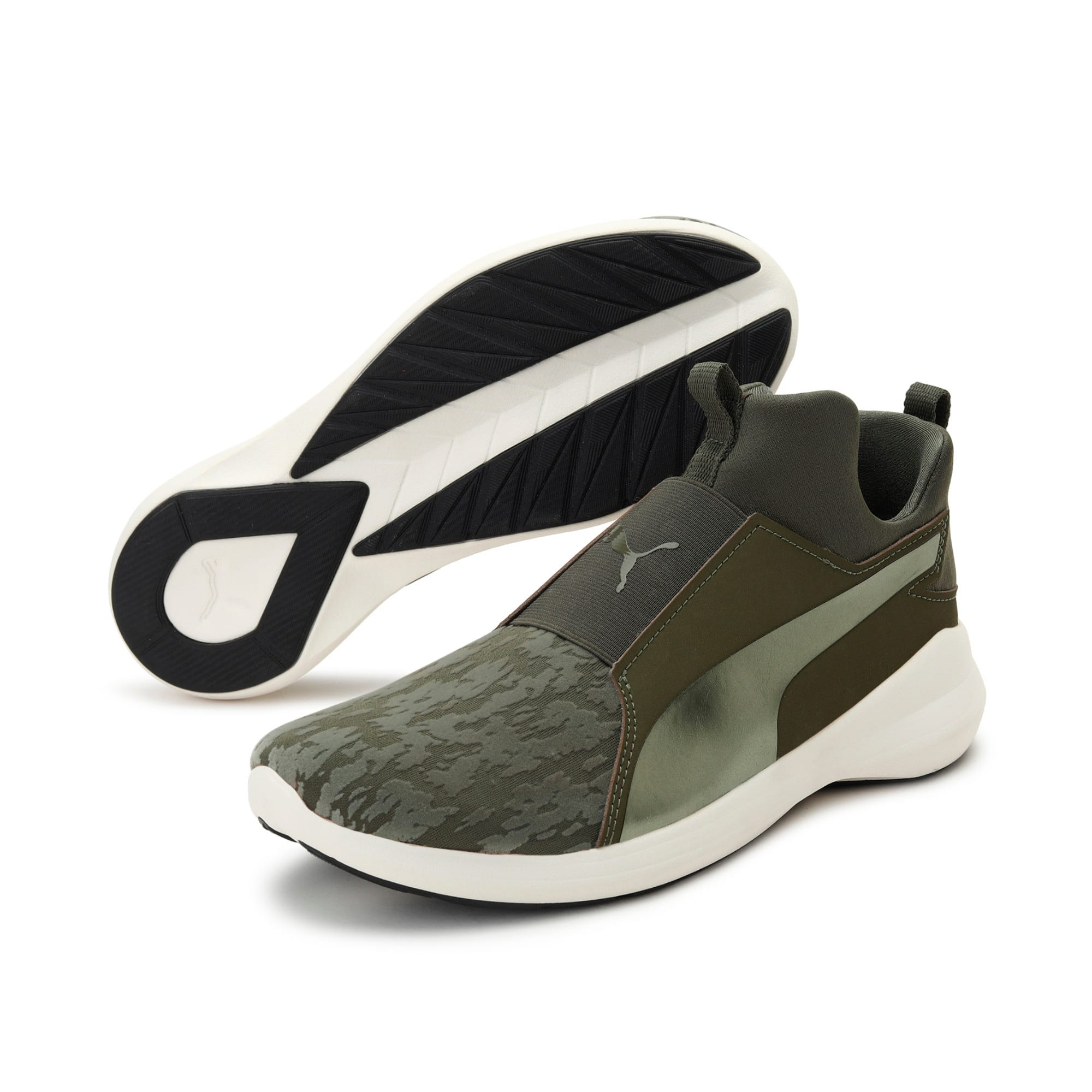 Thumbnail 2 of Rebel Mid VR Women's Trainers, Olive Night-Olive Night, medium-IND