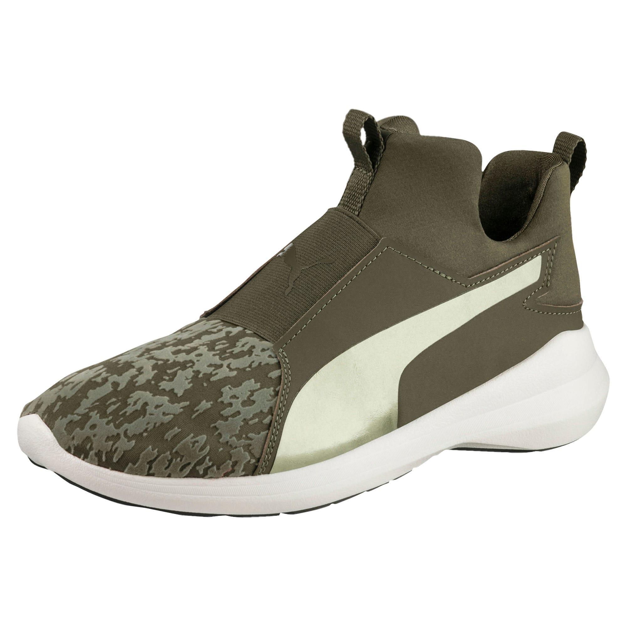Thumbnail 1 of Rebel Mid VR Women's Trainers, Olive Night-Olive Night, medium-IND