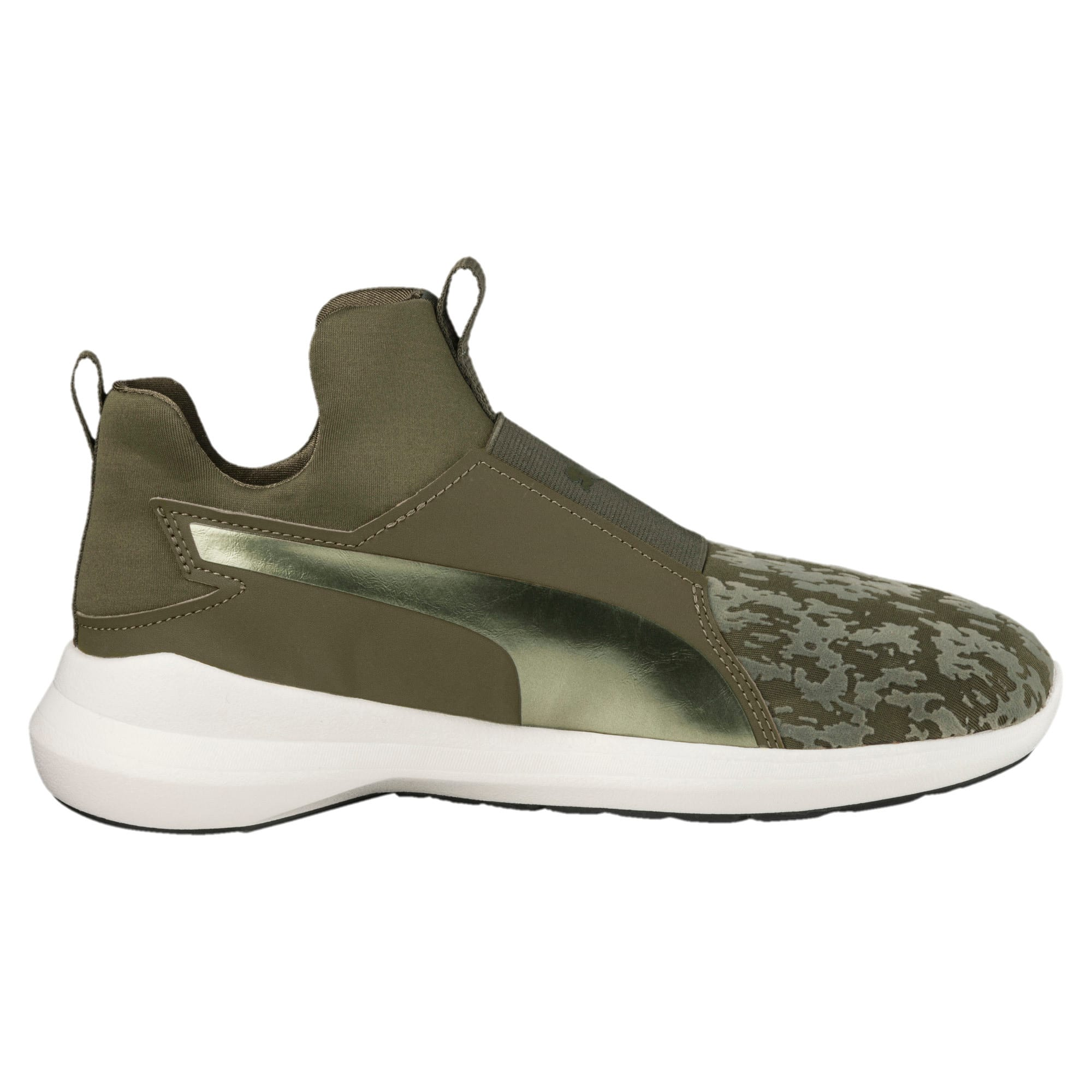 Thumbnail 4 of Rebel Mid VR Women's Trainers, Olive Night-Olive Night, medium-IND