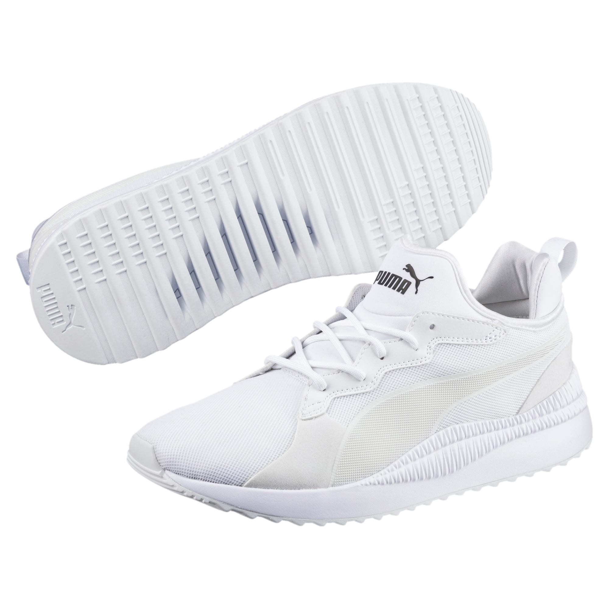 Thumbnail 6 of Pacer Next Trainers, Puma White-Puma White, medium-IND