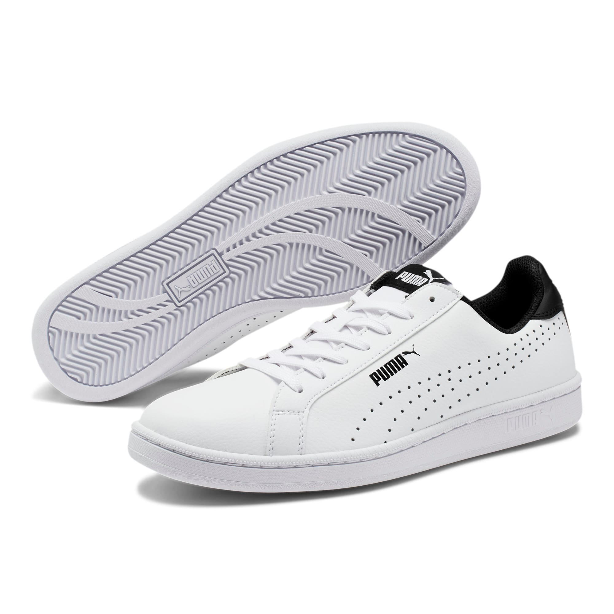 Thumbnail 2 of PUMA Smash Perf Sneakers, Puma White-Puma Black, medium