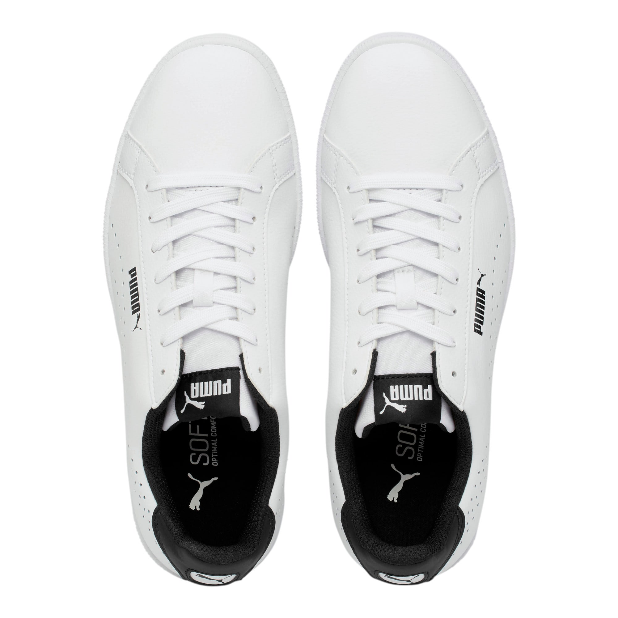 Thumbnail 6 of PUMA Smash Perf Sneakers, Puma White-Puma Black, medium