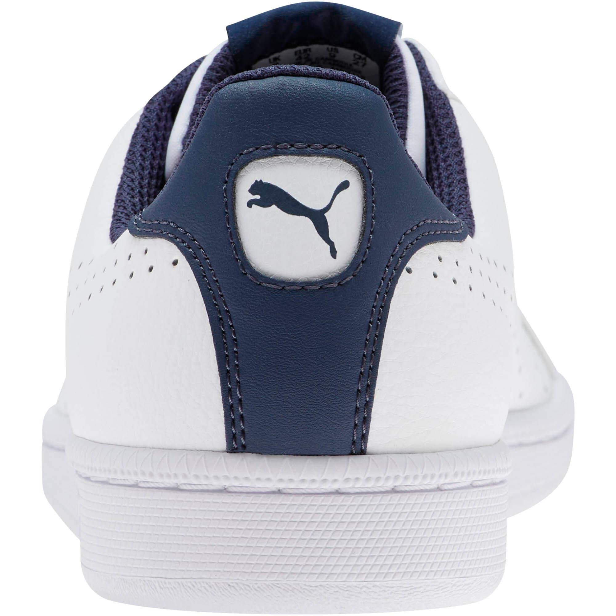 Thumbnail 3 of PUMA Smash Perf Sneakers, Puma White-Peacoat, medium