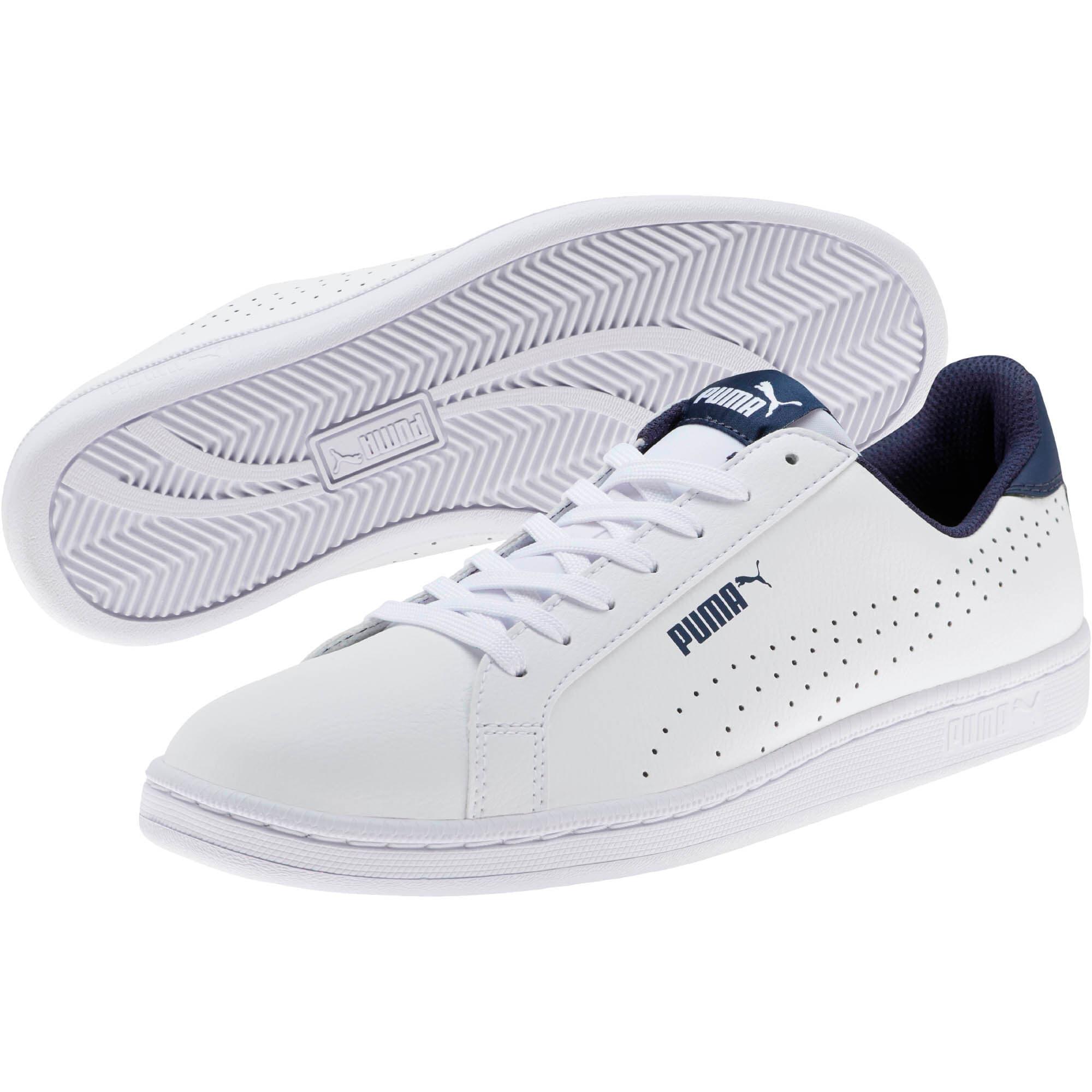 Thumbnail 2 of PUMA Smash Perf Sneakers, Puma White-Peacoat, medium