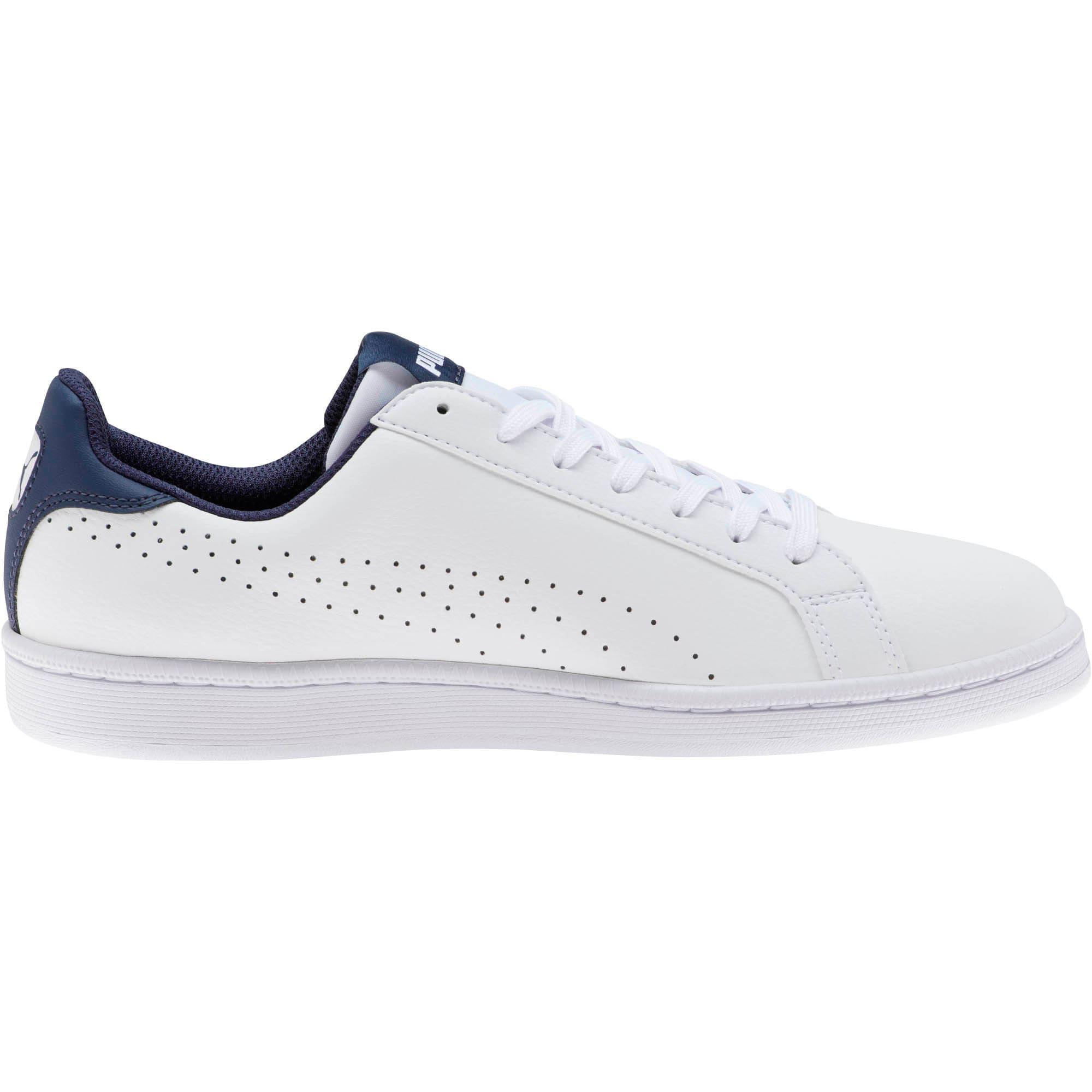 Thumbnail 4 of PUMA Smash Perf Sneakers, Puma White-Peacoat, medium