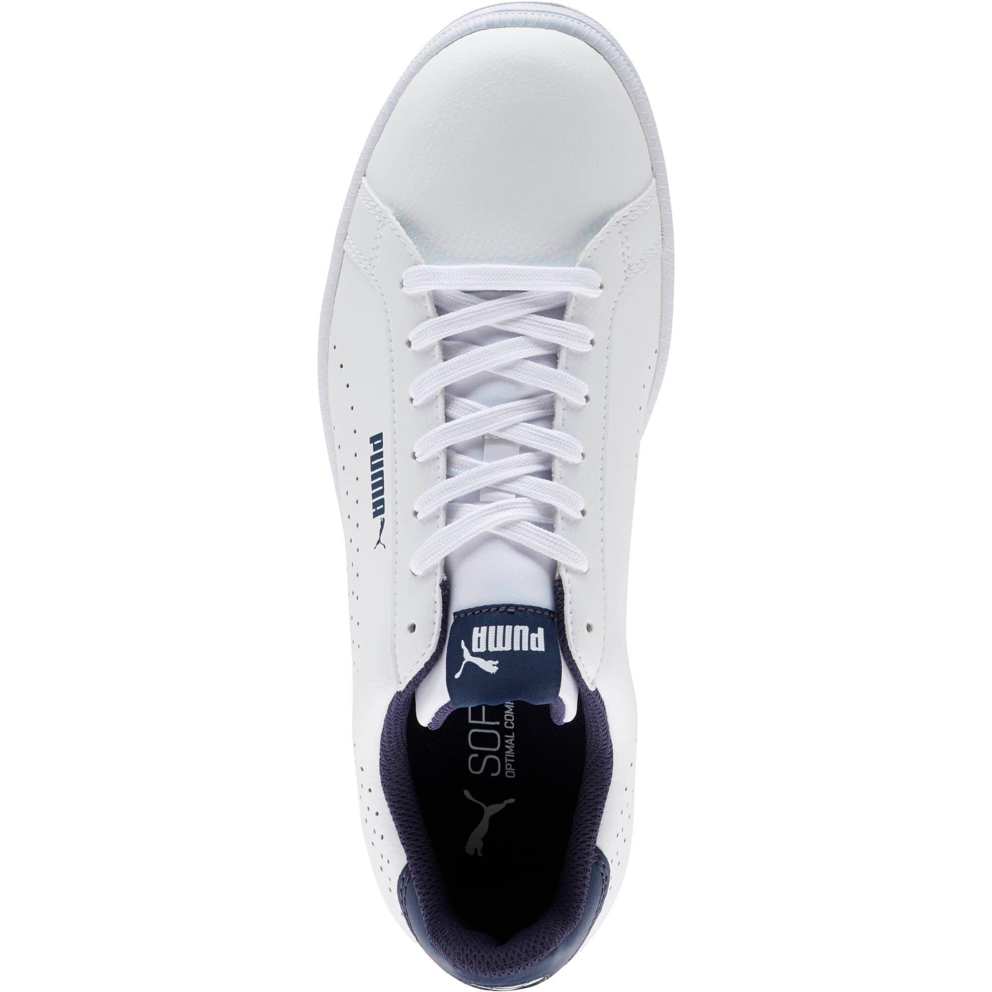 Thumbnail 5 of PUMA Smash Perf Sneakers, Puma White-Peacoat, medium