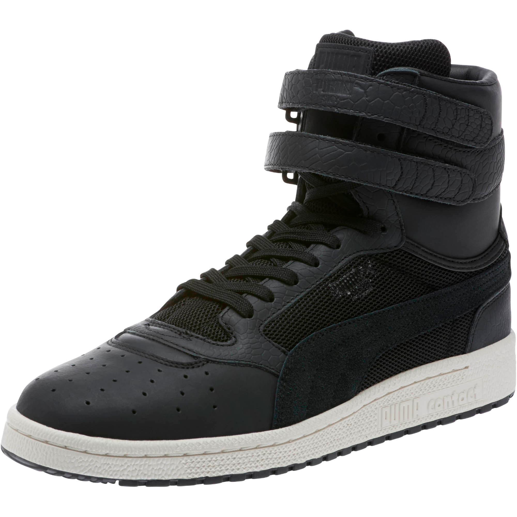 Sky II Hi Colorblocked Leather Sneakers