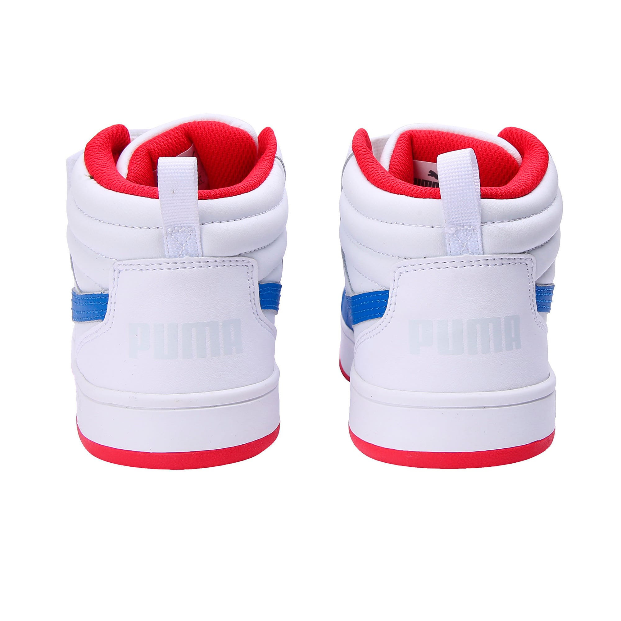 Thumbnail 3 of PumaReboundStreet2 L V PS, White-Strng Blue-Rbbn Red, medium-IND