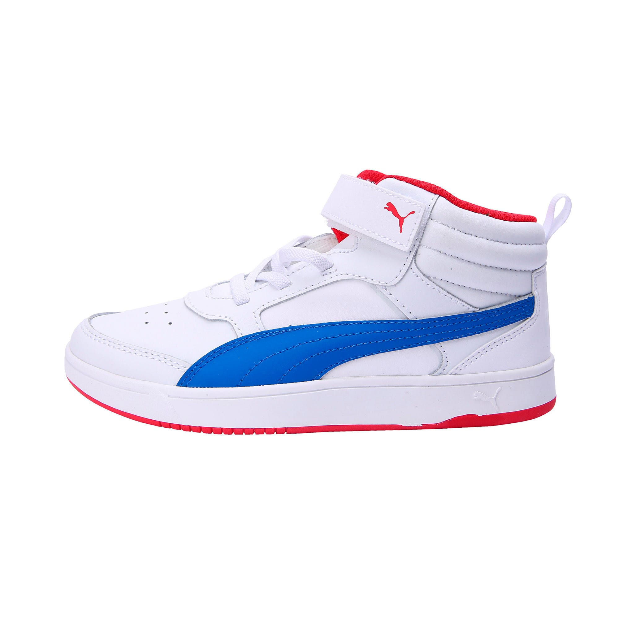 Thumbnail 1 of PumaReboundStreet2 L V PS, White-Strng Blue-Rbbn Red, medium-IND