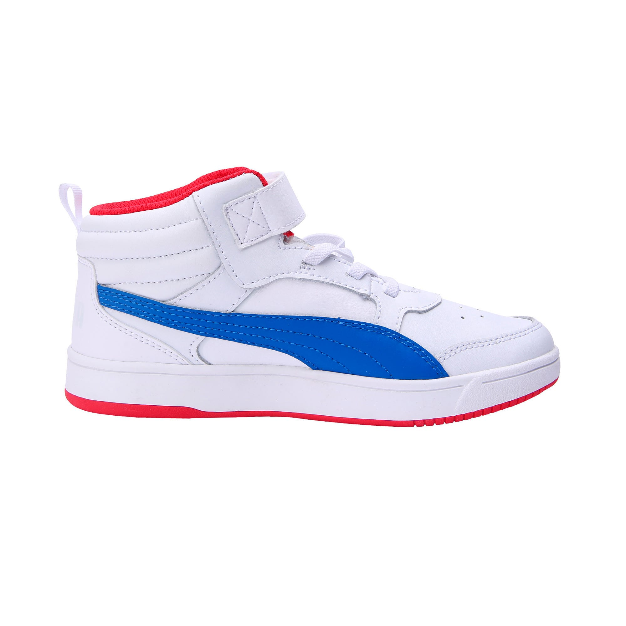 Thumbnail 5 of PumaReboundStreet2 L V PS, White-Strng Blue-Rbbn Red, medium-IND