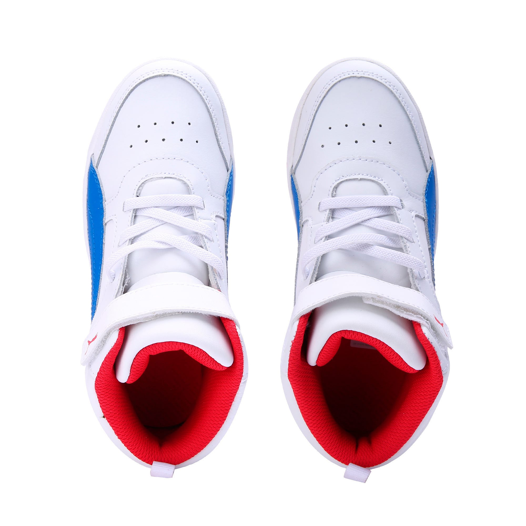 Thumbnail 6 of PumaReboundStreet2 L V PS, White-Strng Blue-Rbbn Red, medium-IND