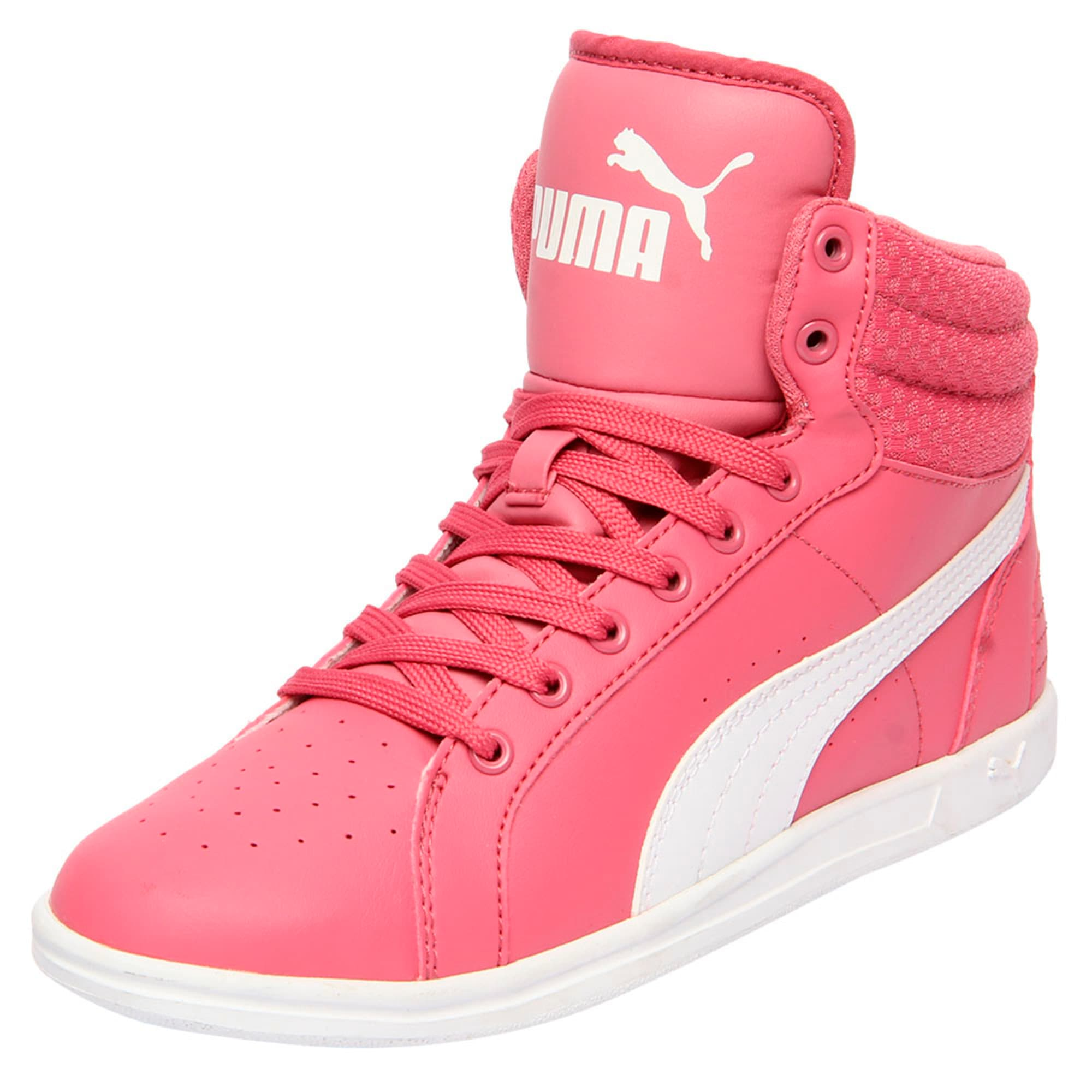 Thumbnail 1 of Puma Ikaz Mid v2 Jr, Rapture Rose-Puma White, medium-IND