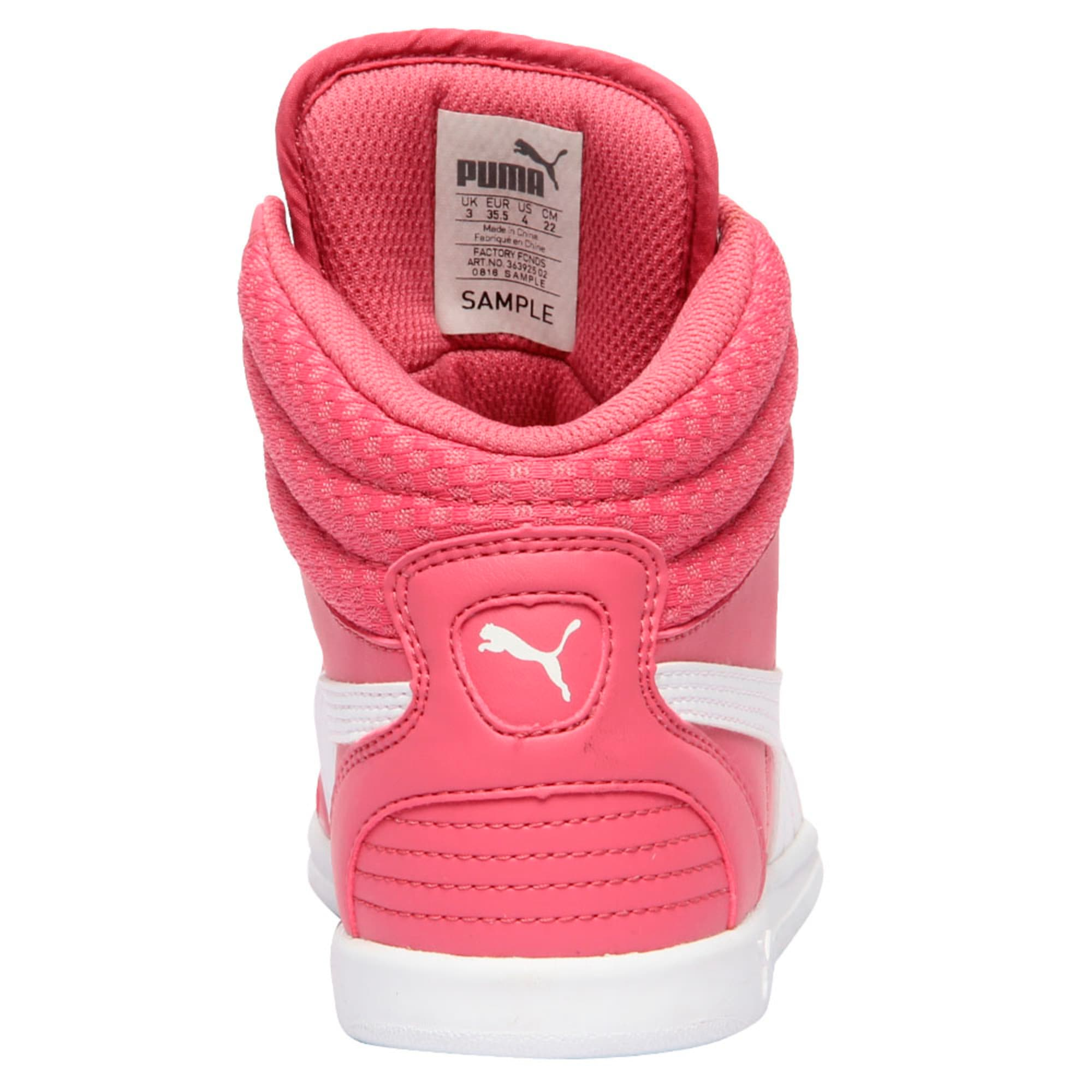 Thumbnail 4 of Puma Ikaz Mid v2 Jr, Rapture Rose-Puma White, medium-IND