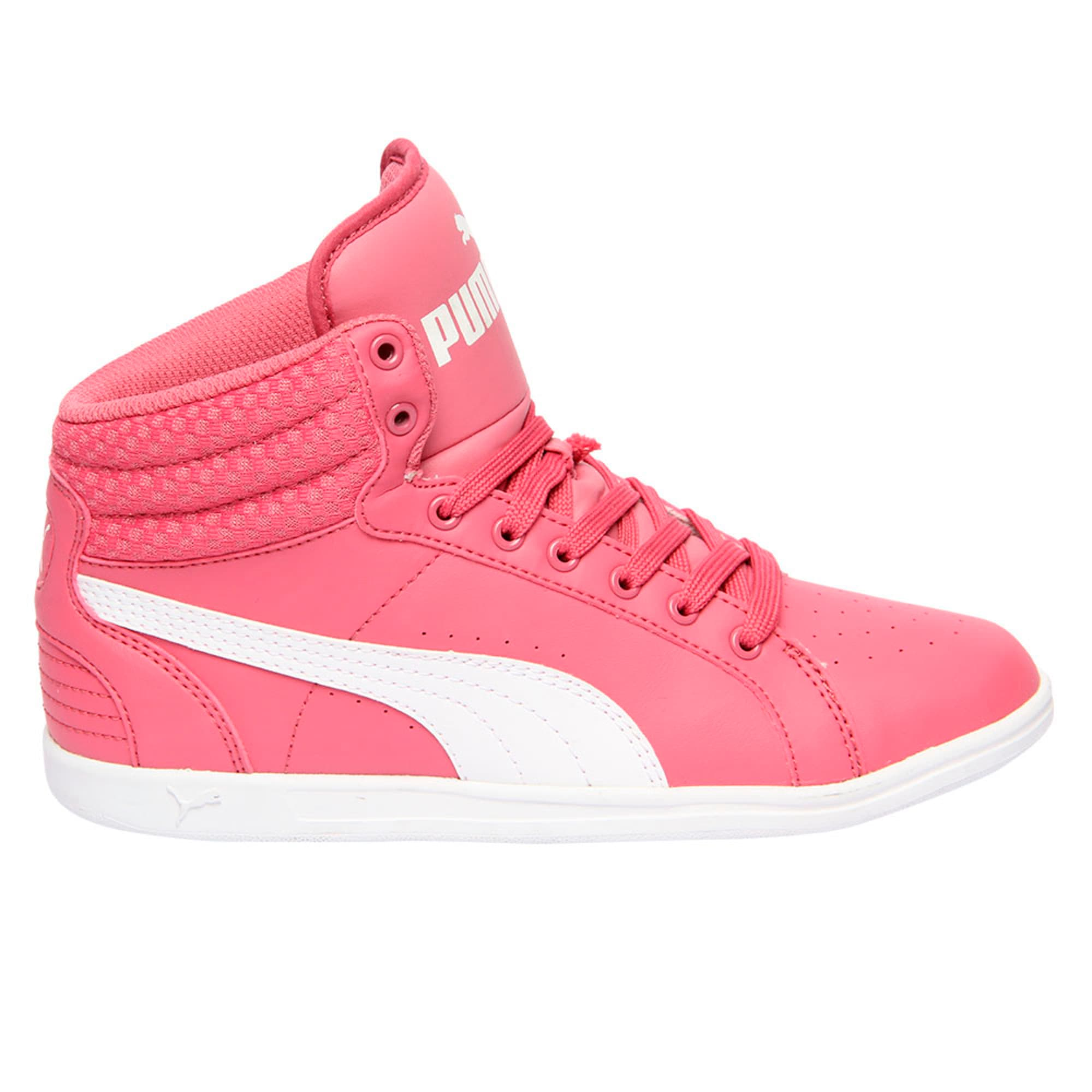 Thumbnail 5 of Puma Ikaz Mid v2 Jr, Rapture Rose-Puma White, medium-IND
