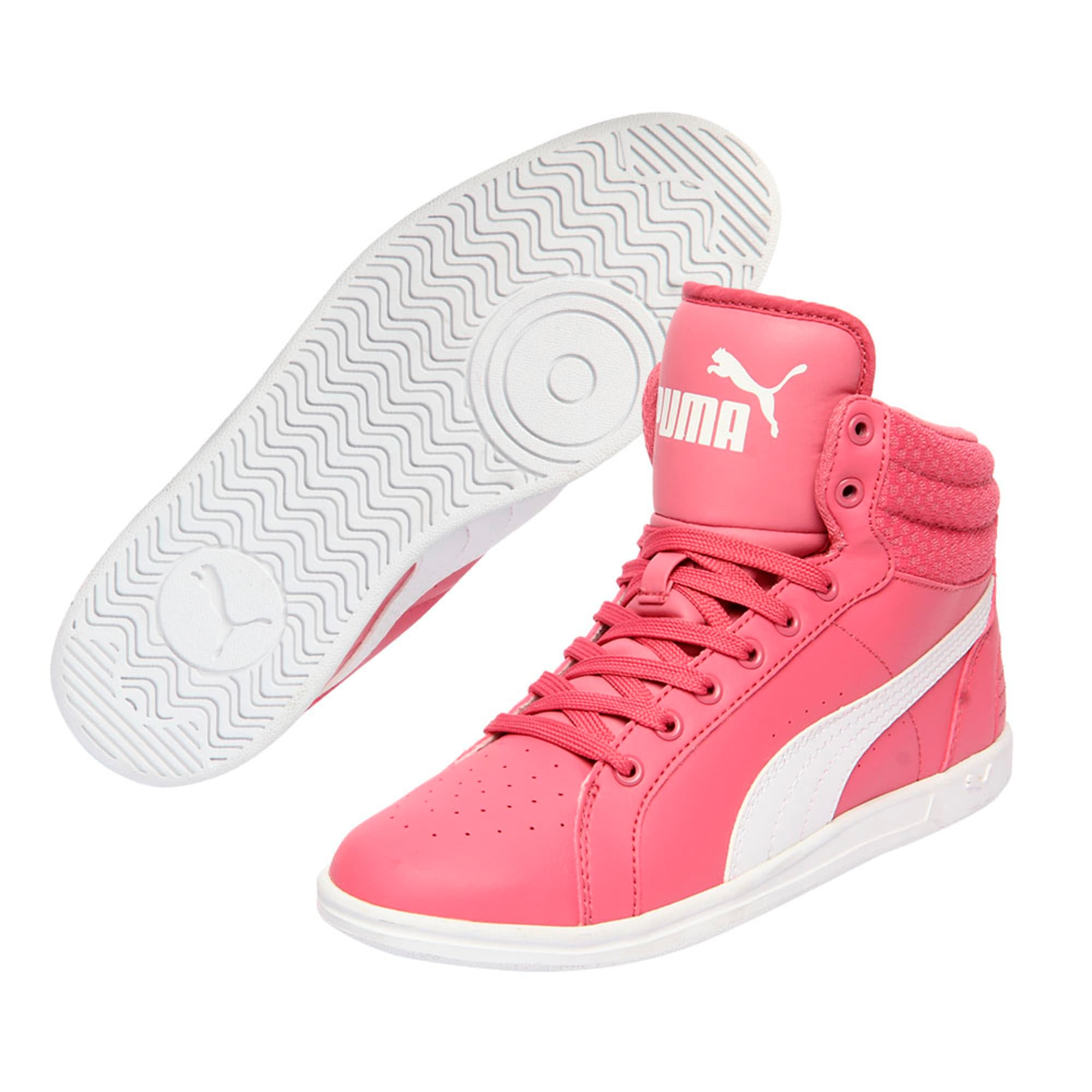 Thumbnail 6 of Puma Ikaz Mid v2 Jr, Rapture Rose-Puma White, medium-IND