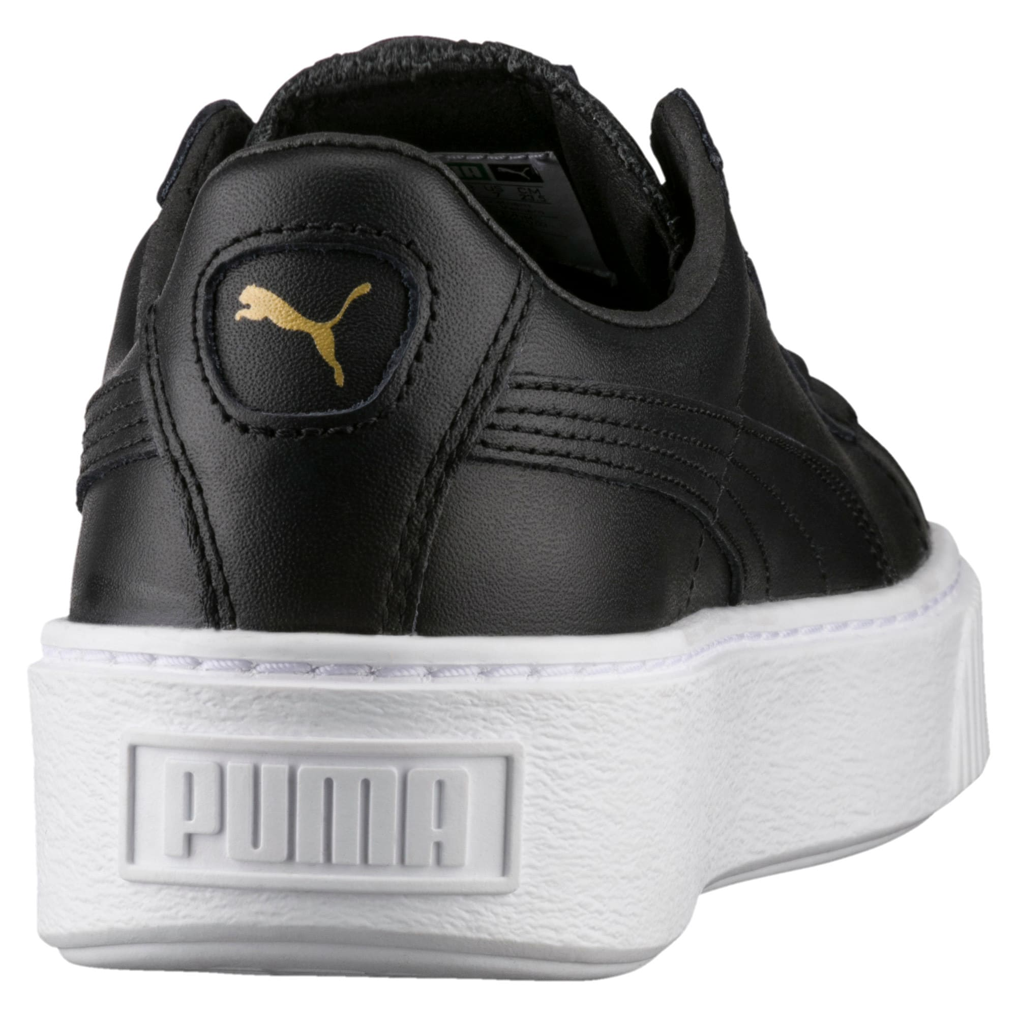 Basket Platform Core Damen Sneaker, Puma Black-Gold, large