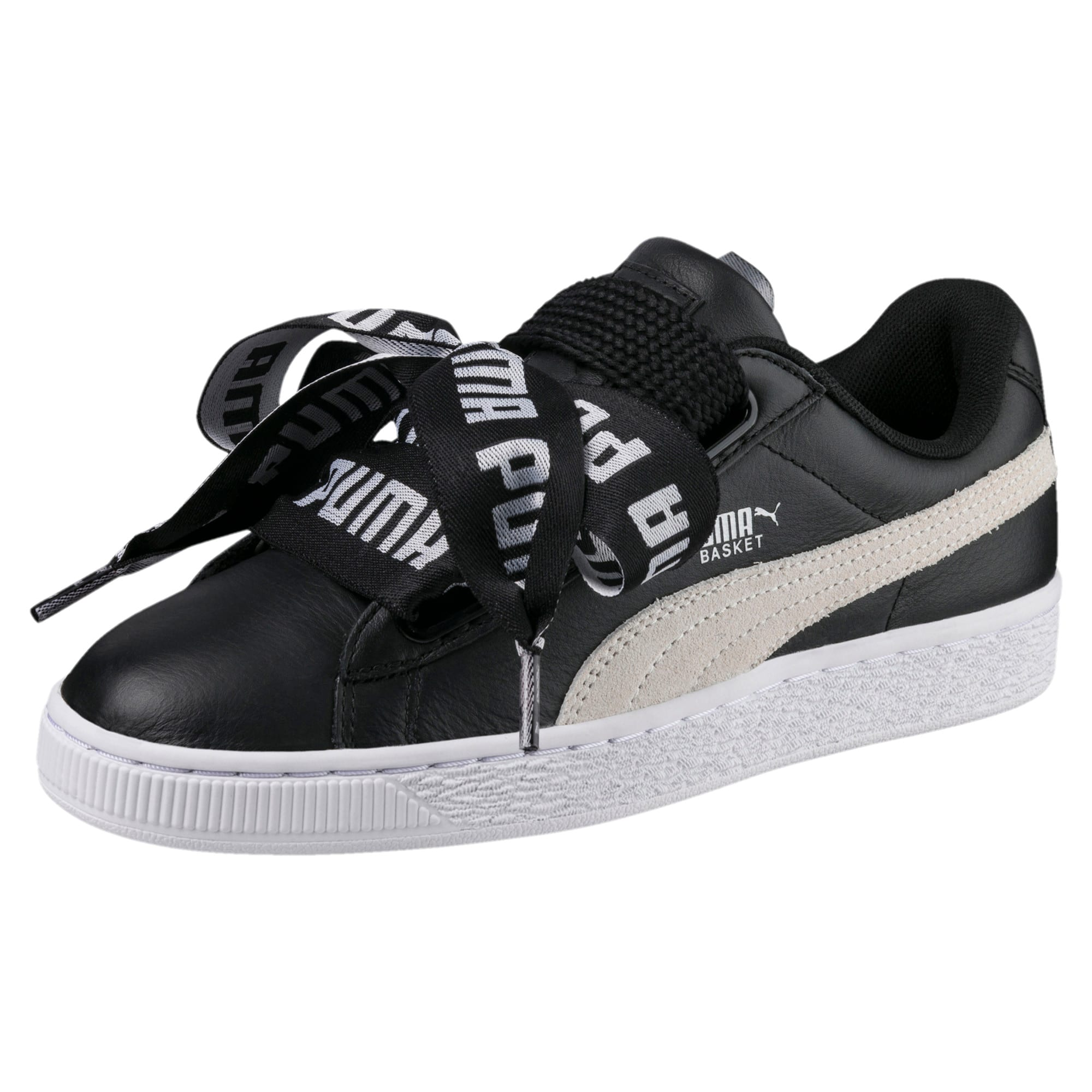 Thumbnail 1 of Basket Heart DE Women's Sneakers, Puma Black-Puma White, medium