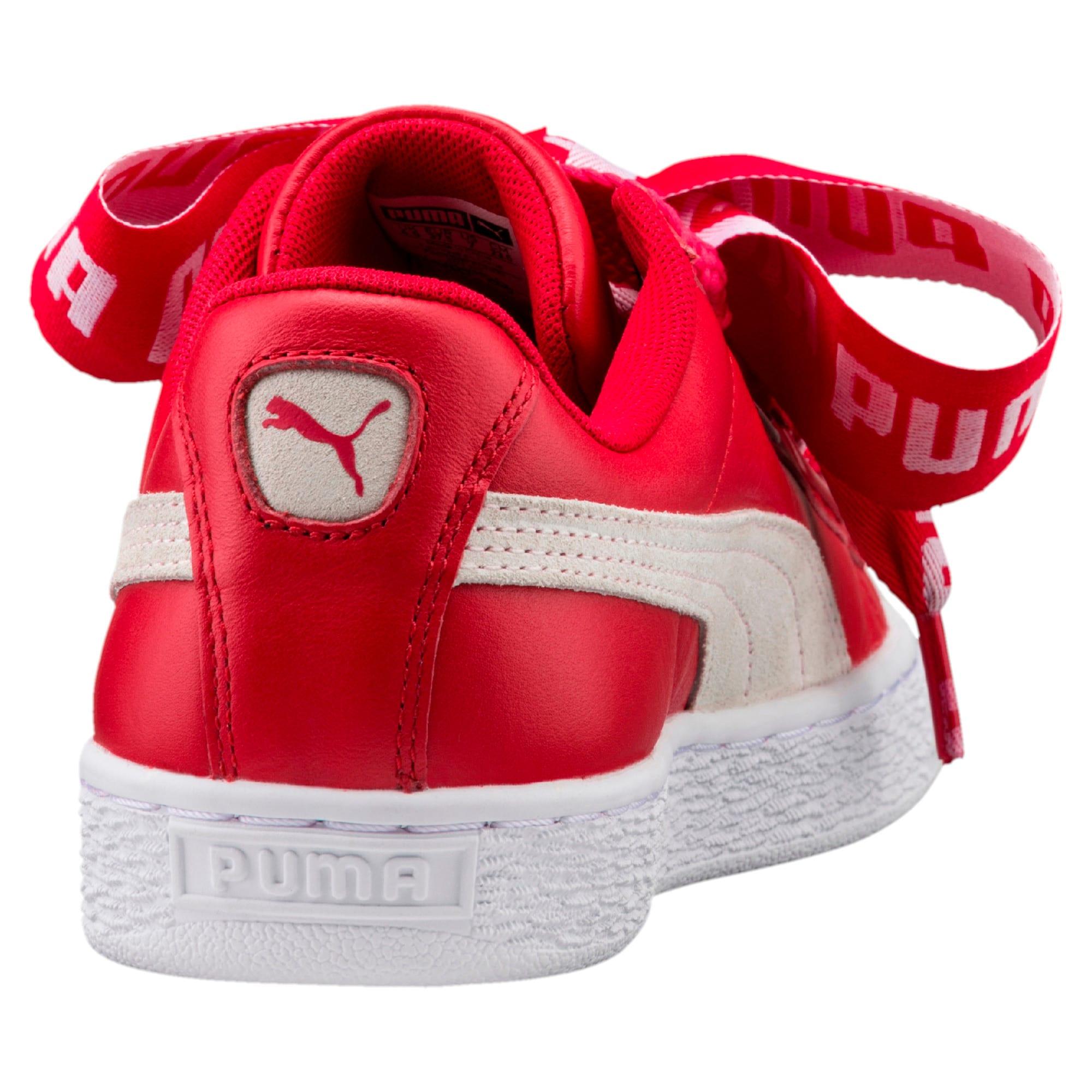 Thumbnail 5 of Basket Heart DE Women's Trainers, Toreador-Puma White, medium-IND
