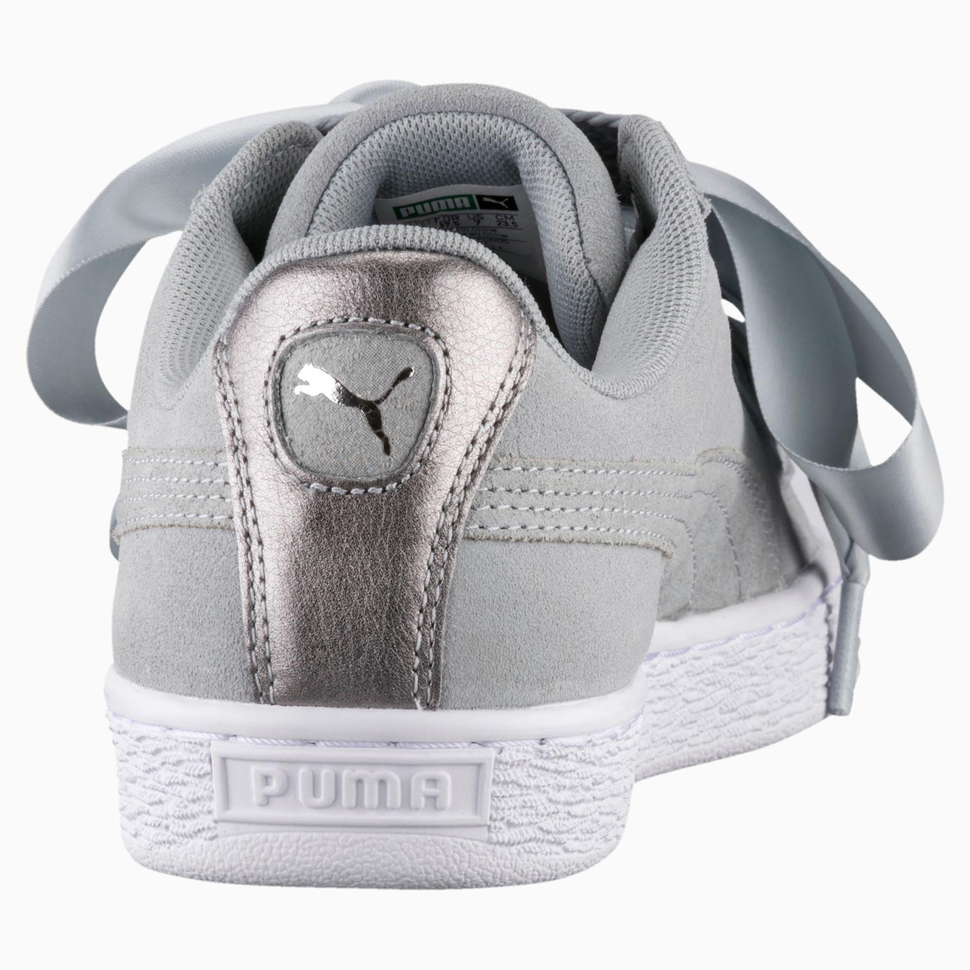 Zapatos deportivos metalizados Basket Heart para mujer