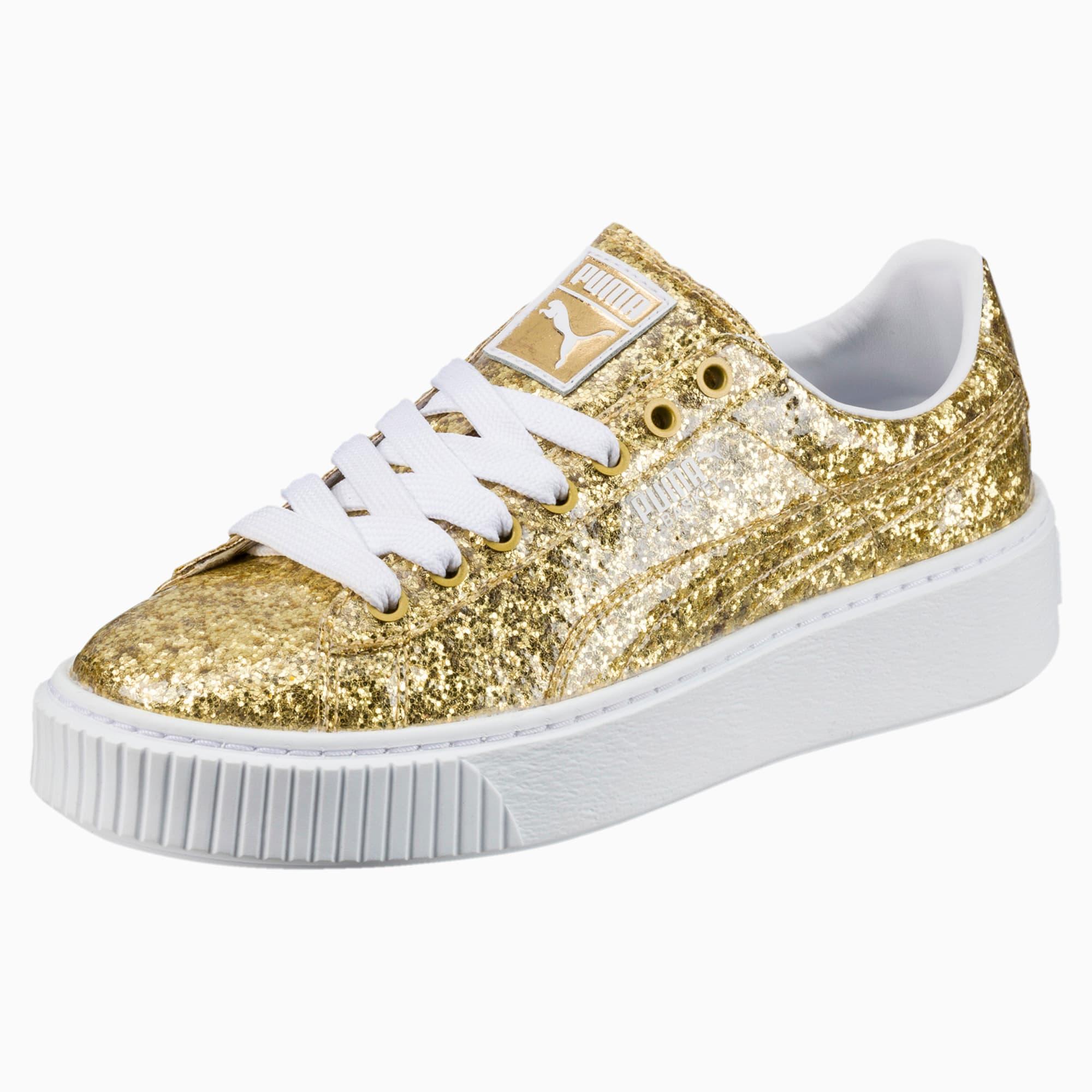 Basket Platform Glitter Women's Sneakers