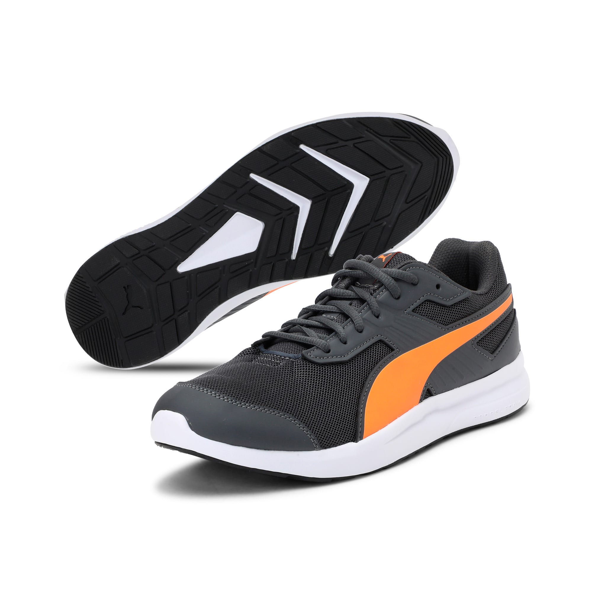 Thumbnail 2 of Escaper Mesh Trainers, Iron Gate-Shock Orange-White, medium-IND