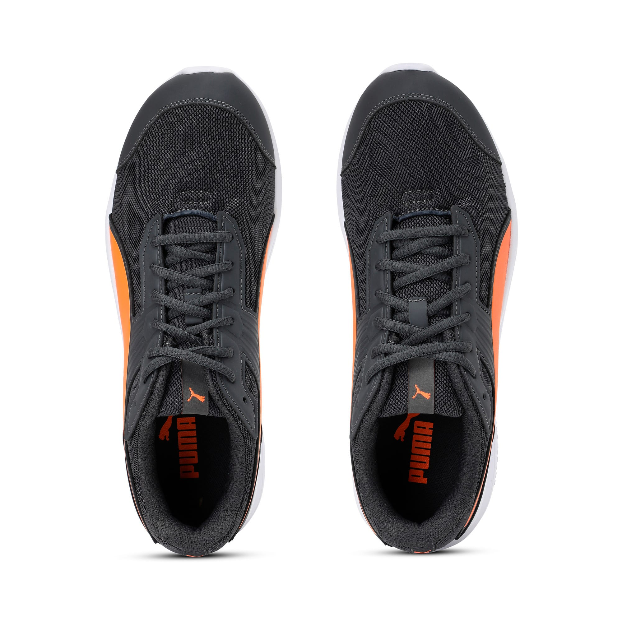 Thumbnail 6 of Escaper Mesh Trainers, Iron Gate-Shock Orange-White, medium-IND