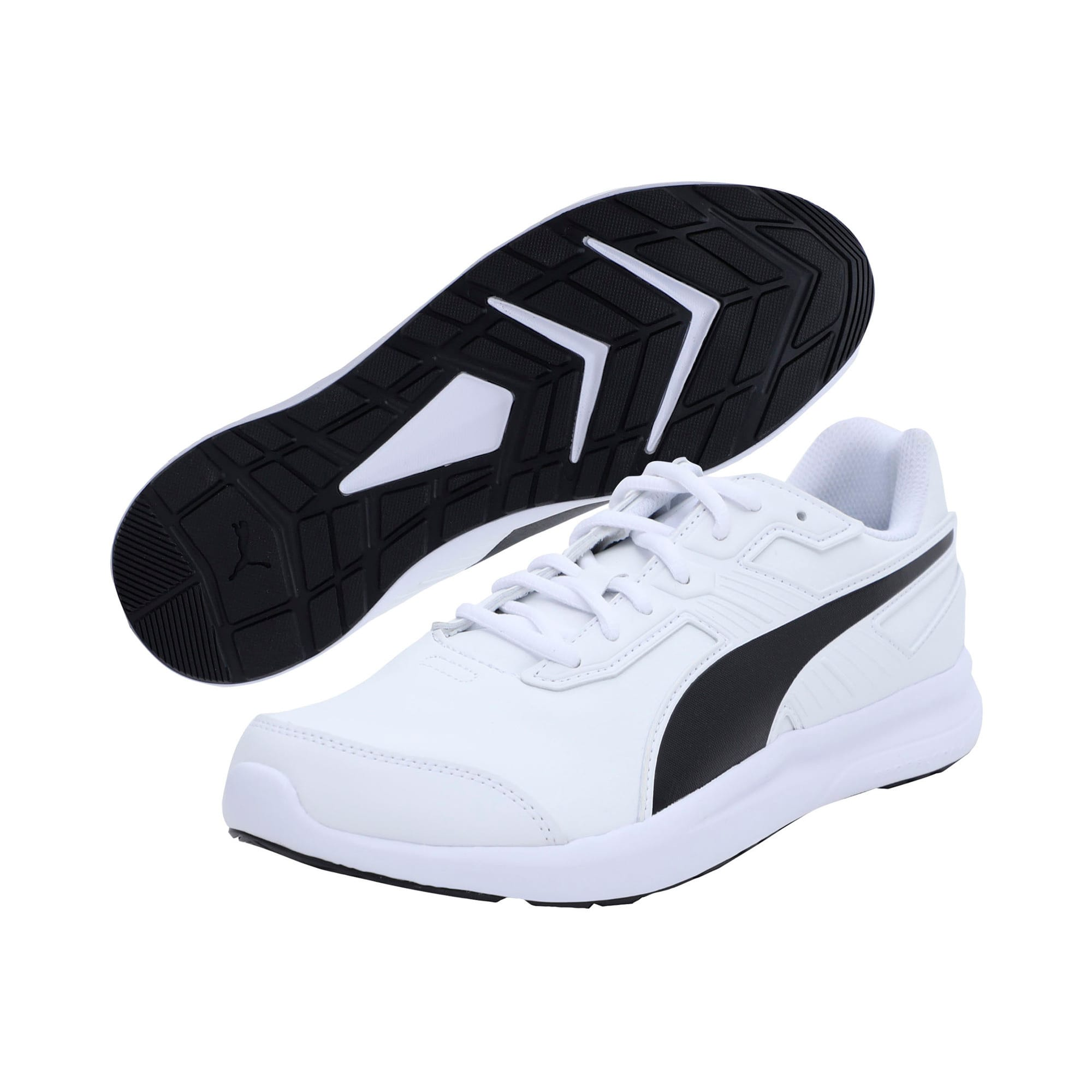 Thumbnail 2 of Escaper SL Trainers, Puma White-Puma Black, medium-IND