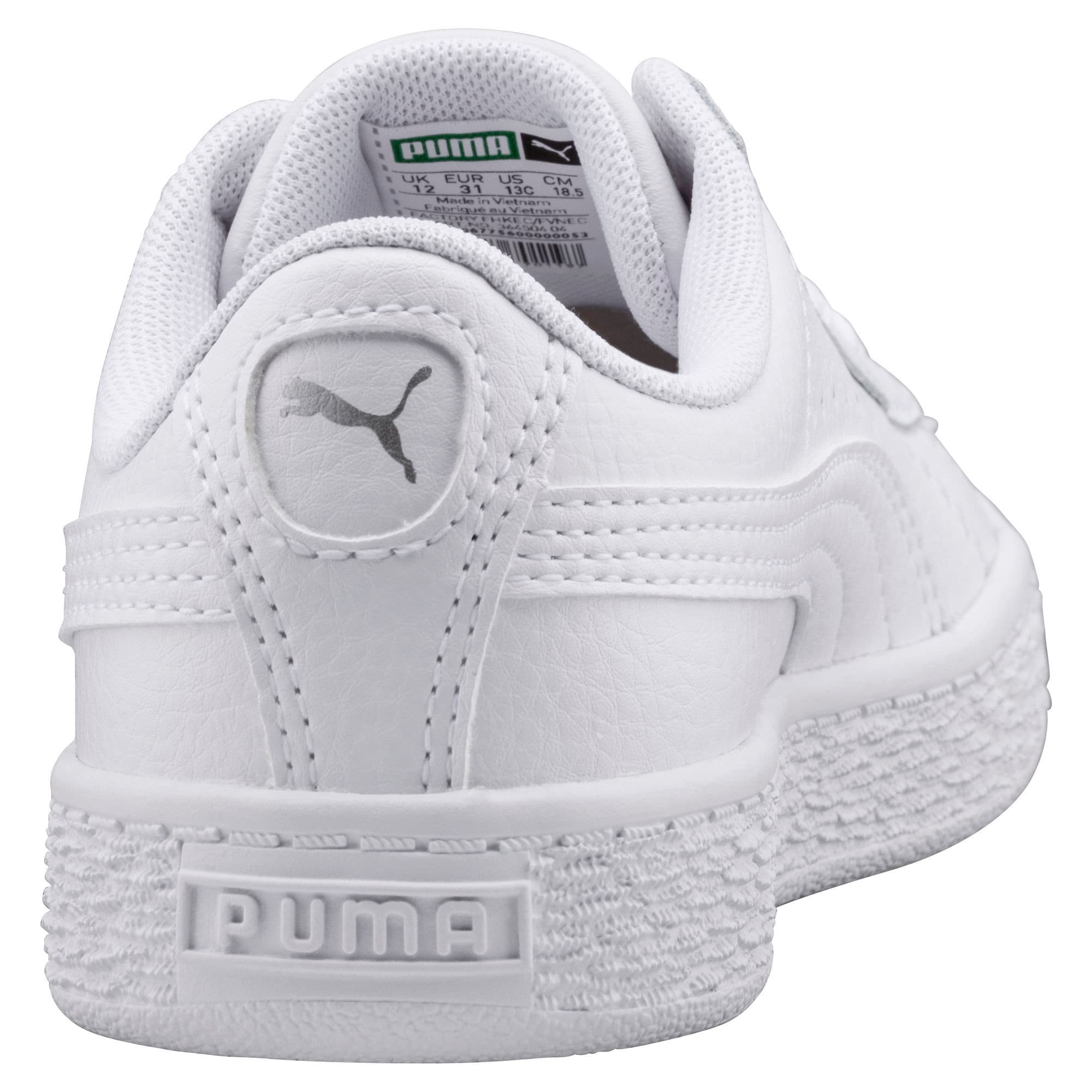 Thumbnail 3 of Basket Classic Sneakers JR, Puma White-Puma White, medium