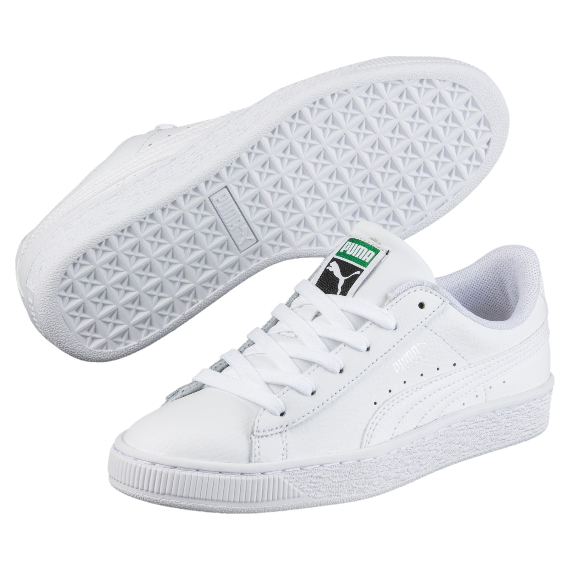 Thumbnail 2 of Basket Classic Sneakers JR, Puma White-Puma White, medium