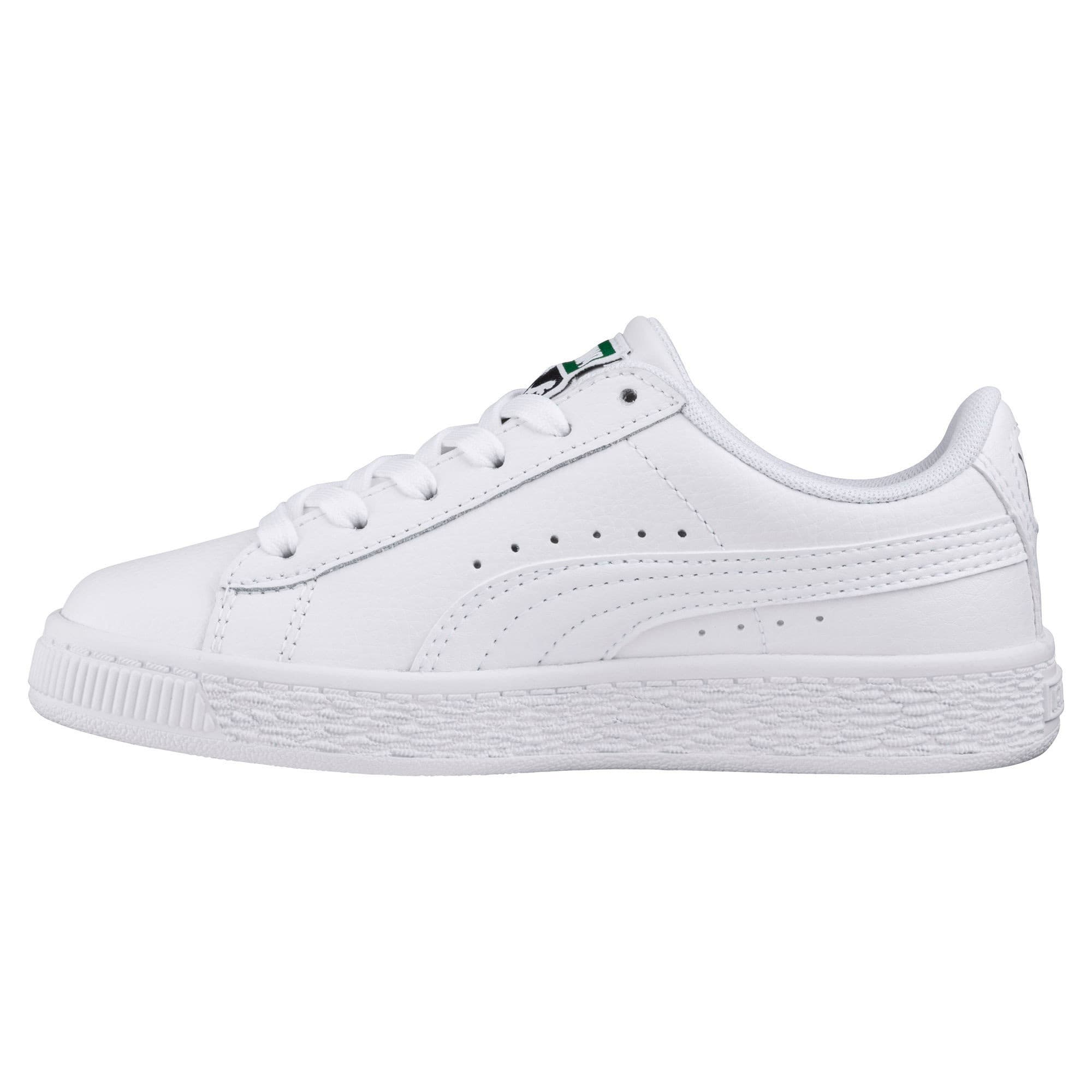 Thumbnail 1 of Basket Classic Sneakers JR, Puma White-Puma White, medium
