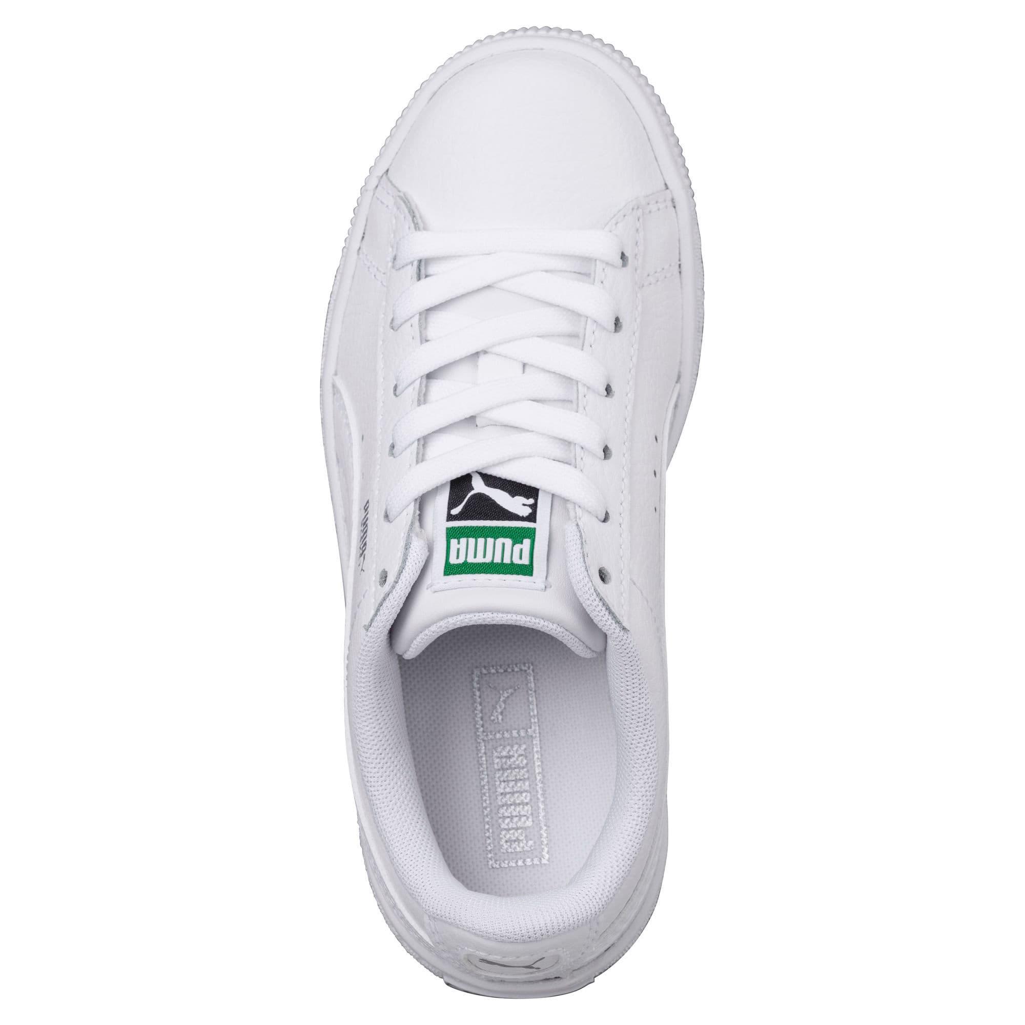 Thumbnail 5 of Basket Classic Sneakers JR, Puma White-Puma White, medium