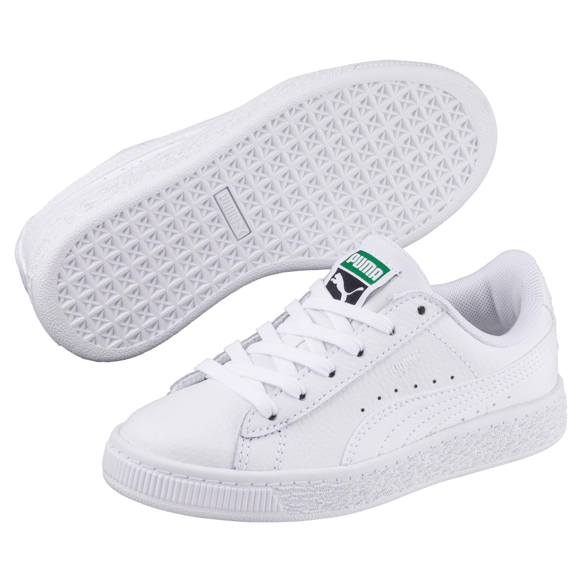 Thumbnail 2 of Basket Classic Kinder Sneaker, Puma White-Puma White, medium