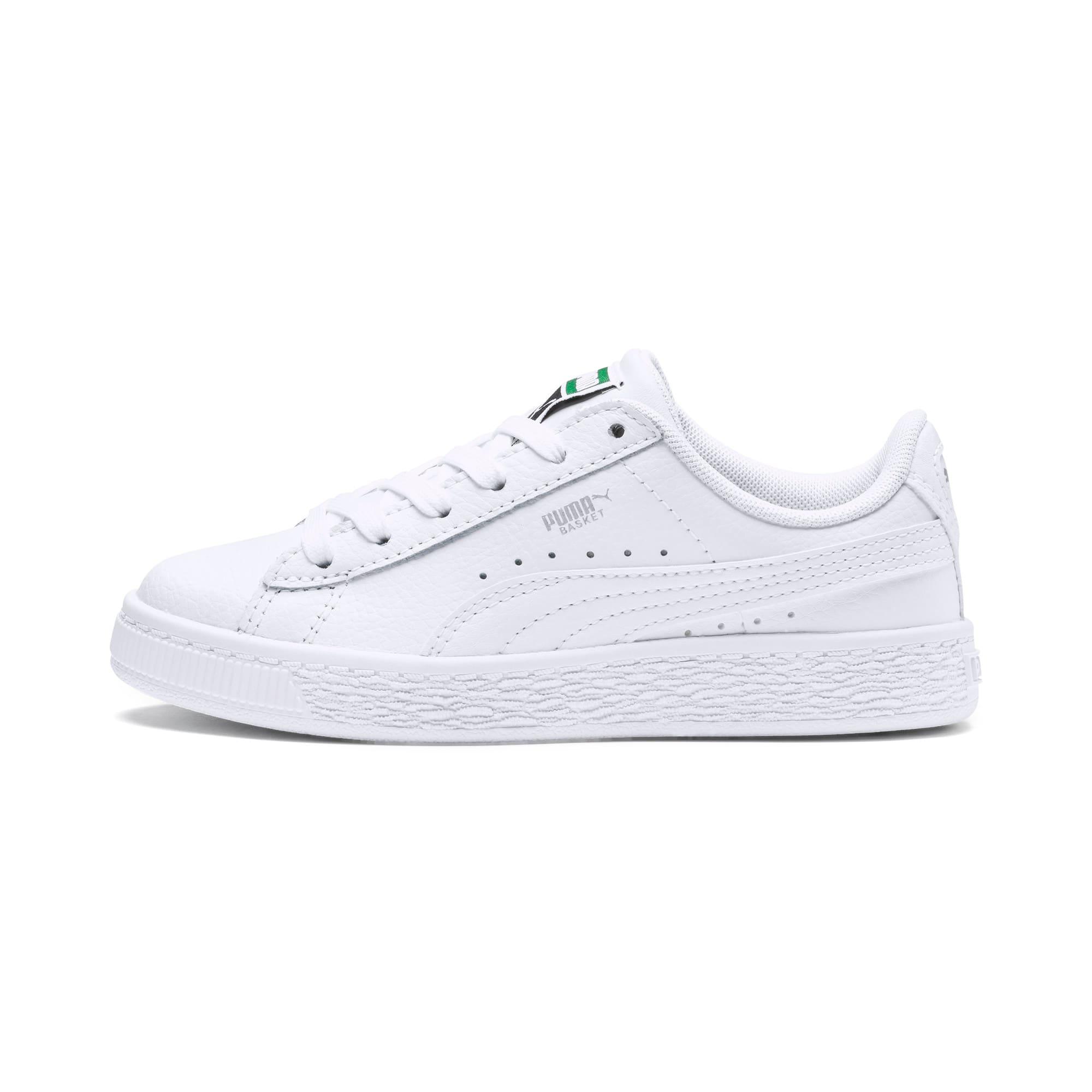 Thumbnail 1 of Basket Classic Kinder Sneaker, Puma White-Puma White, medium