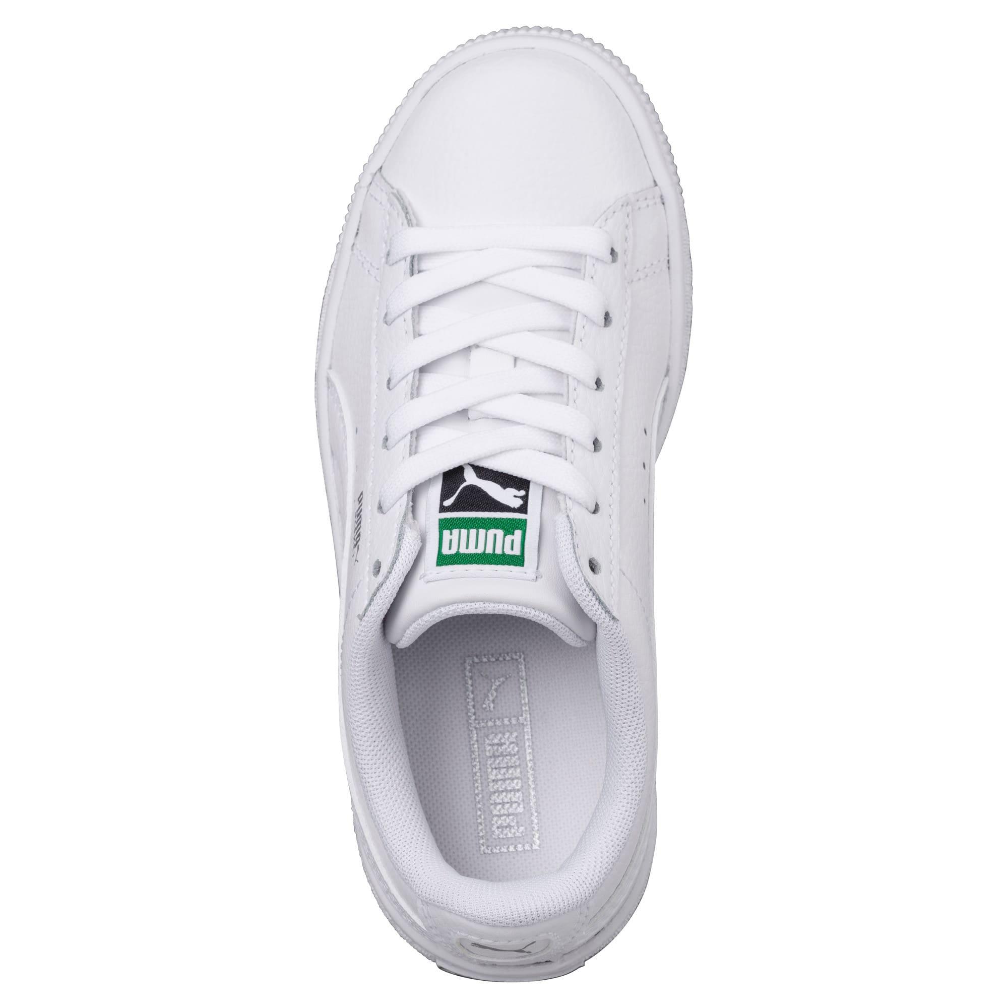 Thumbnail 5 of Basket Classic Kinder Sneaker, Puma White-Puma White, medium