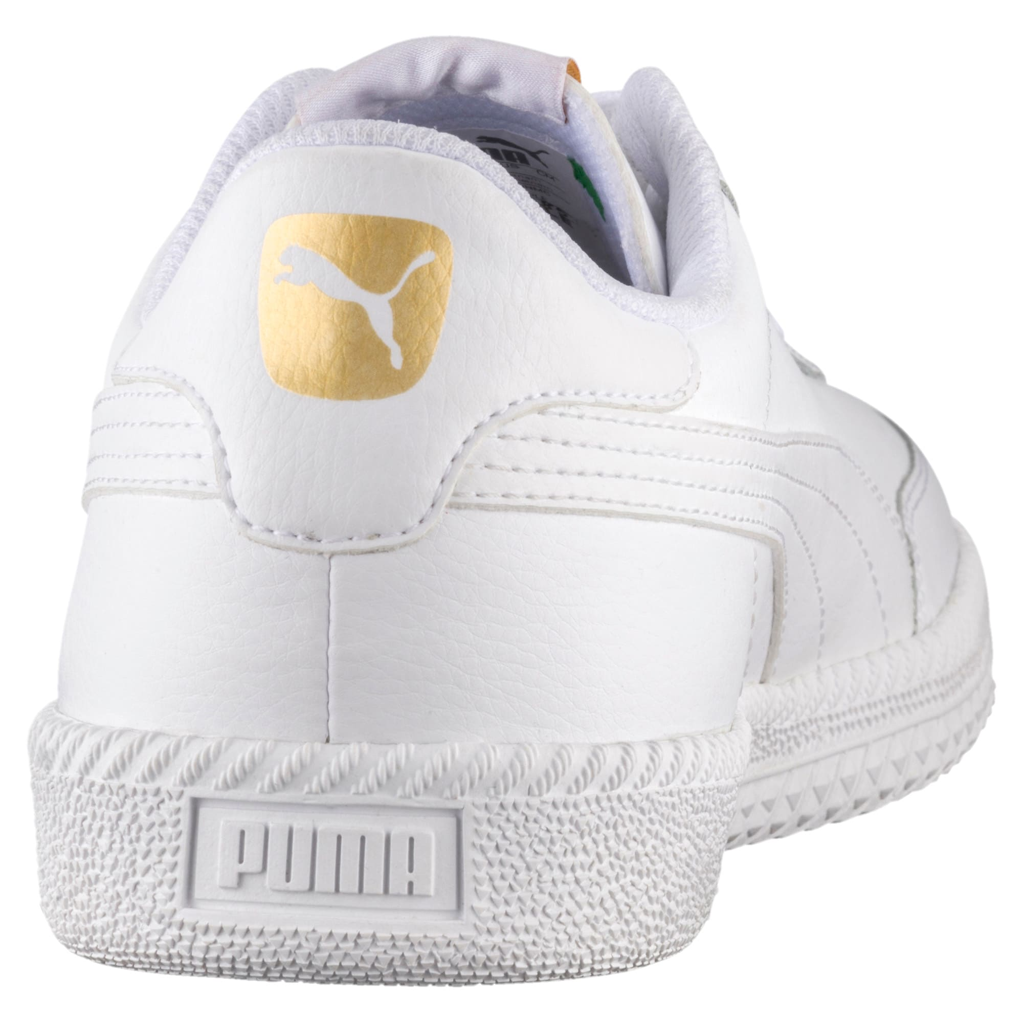 Thumbnail 3 of Astro Cup Leather Trainers, Puma White-Puma White, medium-IND