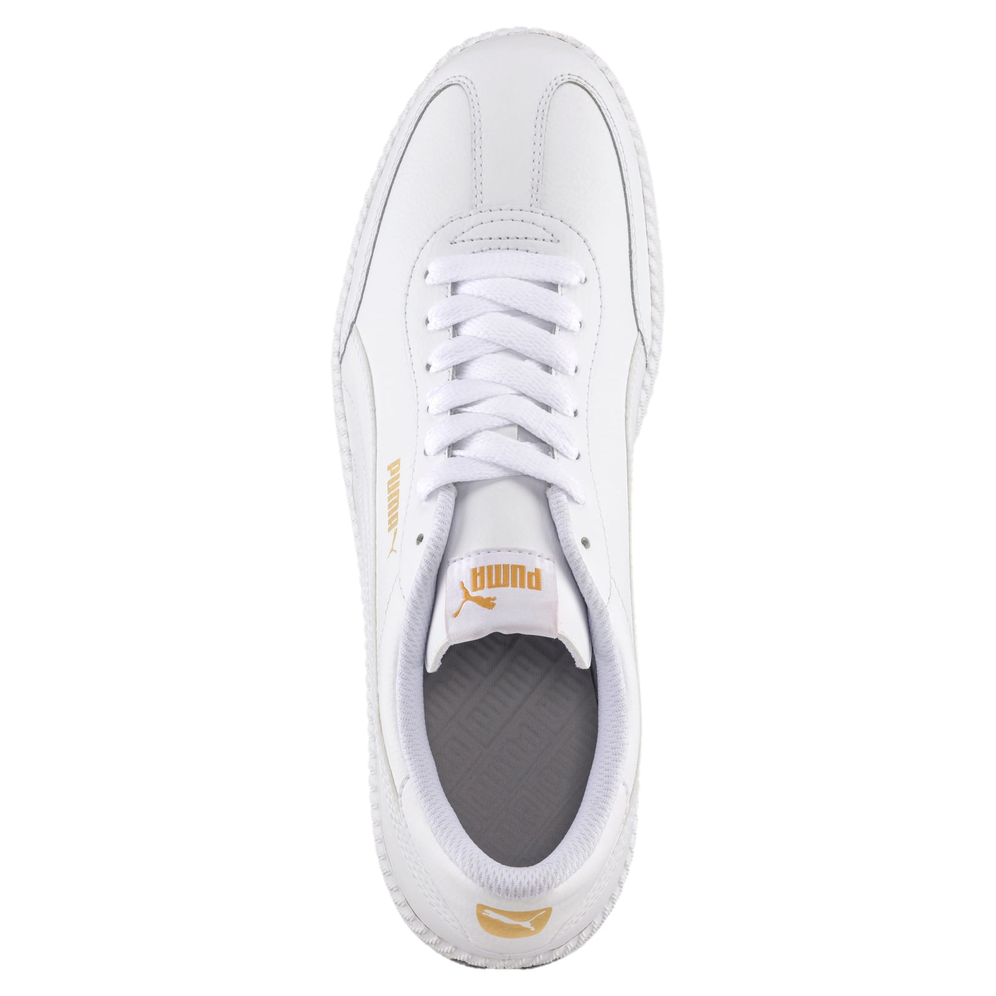 Thumbnail 5 of Astro Cup Leather Trainers, Puma White-Puma White, medium-IND