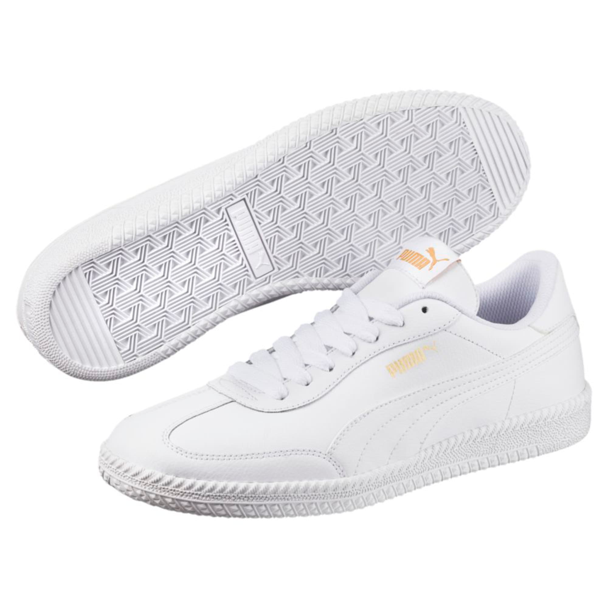 Thumbnail 6 of Astro Cup Leather Trainers, Puma White-Puma White, medium-IND
