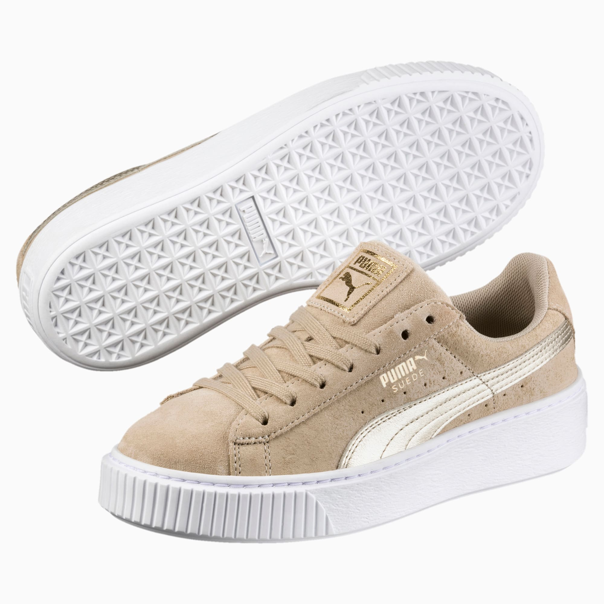 Suede Platform Metallic Safari Women's Sneakers