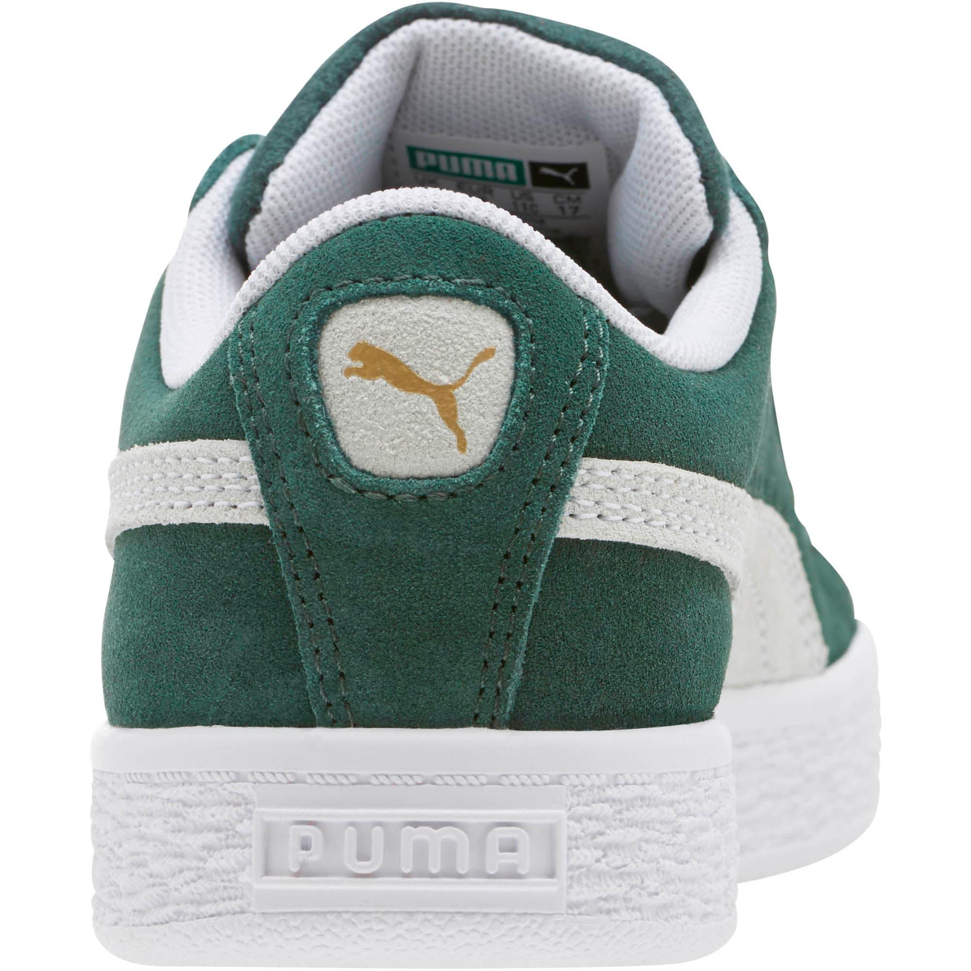 Thumbnail 4 of Suede Classics Little Kids' Shoes, Pineneedle-Puma White, medium