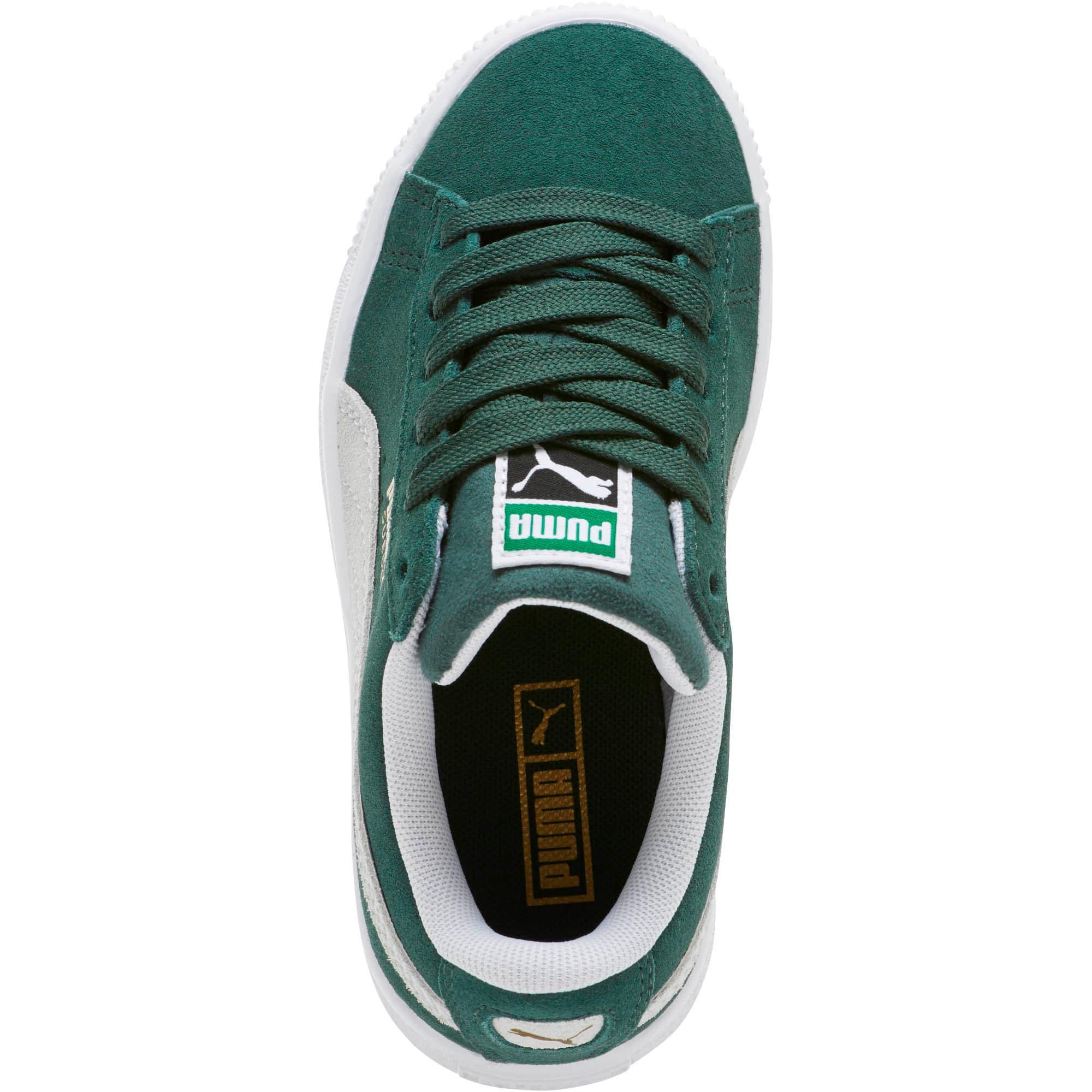 Thumbnail 5 of Suede Classics Little Kids' Shoes, Pineneedle-Puma White, medium