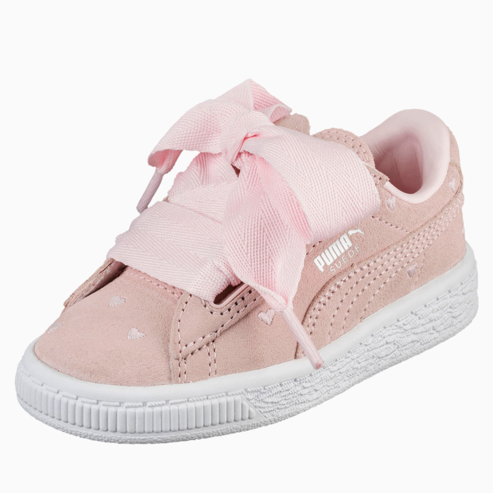 Suede Heart Valentine Toddler Training Shoes