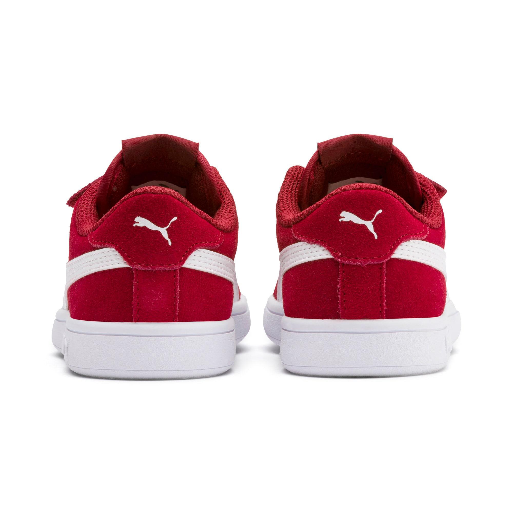 Thumbnail 3 of Smash v2 Suede Little Kids' Shoes, Rhubarb-Puma White, medium