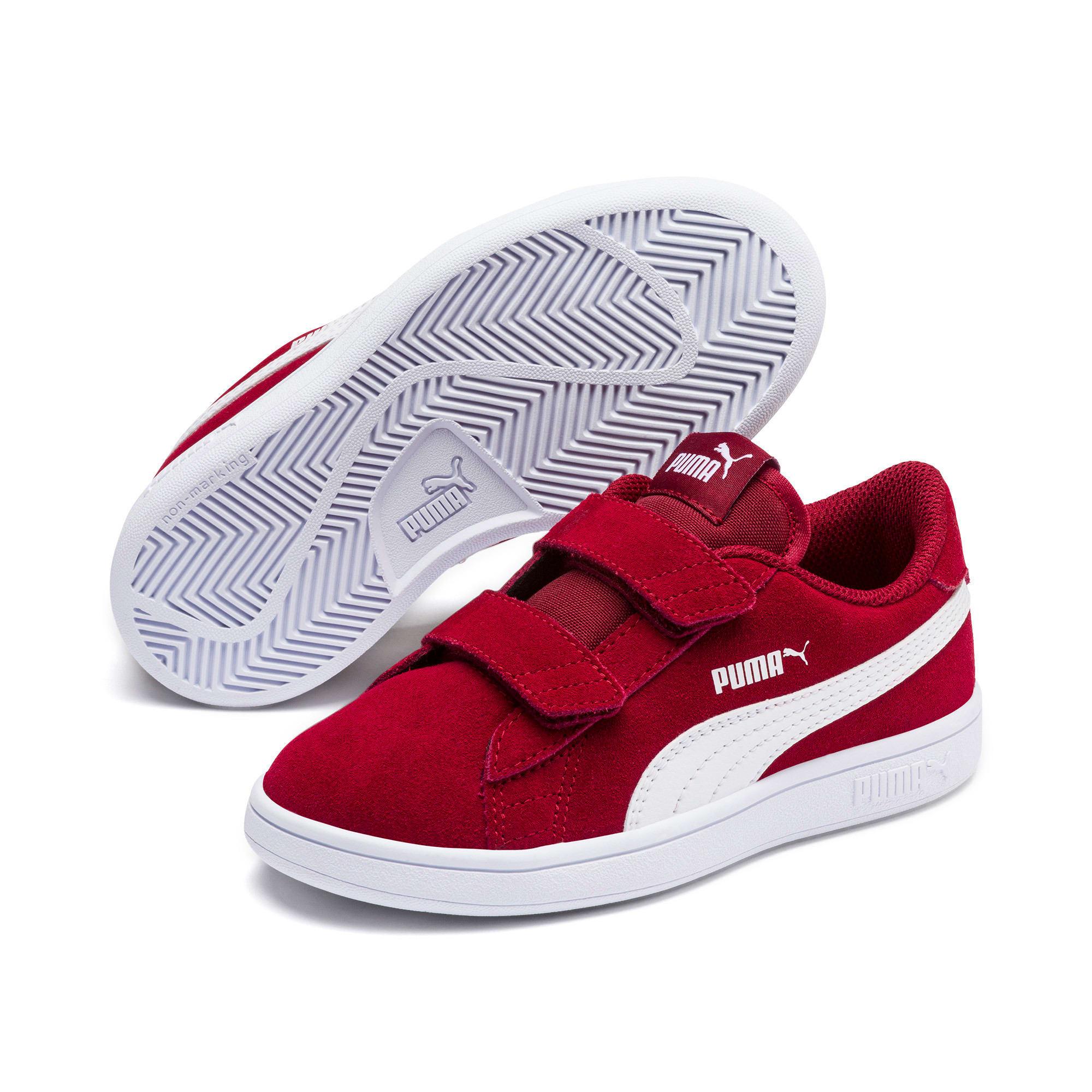 Thumbnail 2 of Smash v2 Suede Little Kids' Shoes, Rhubarb-Puma White, medium
