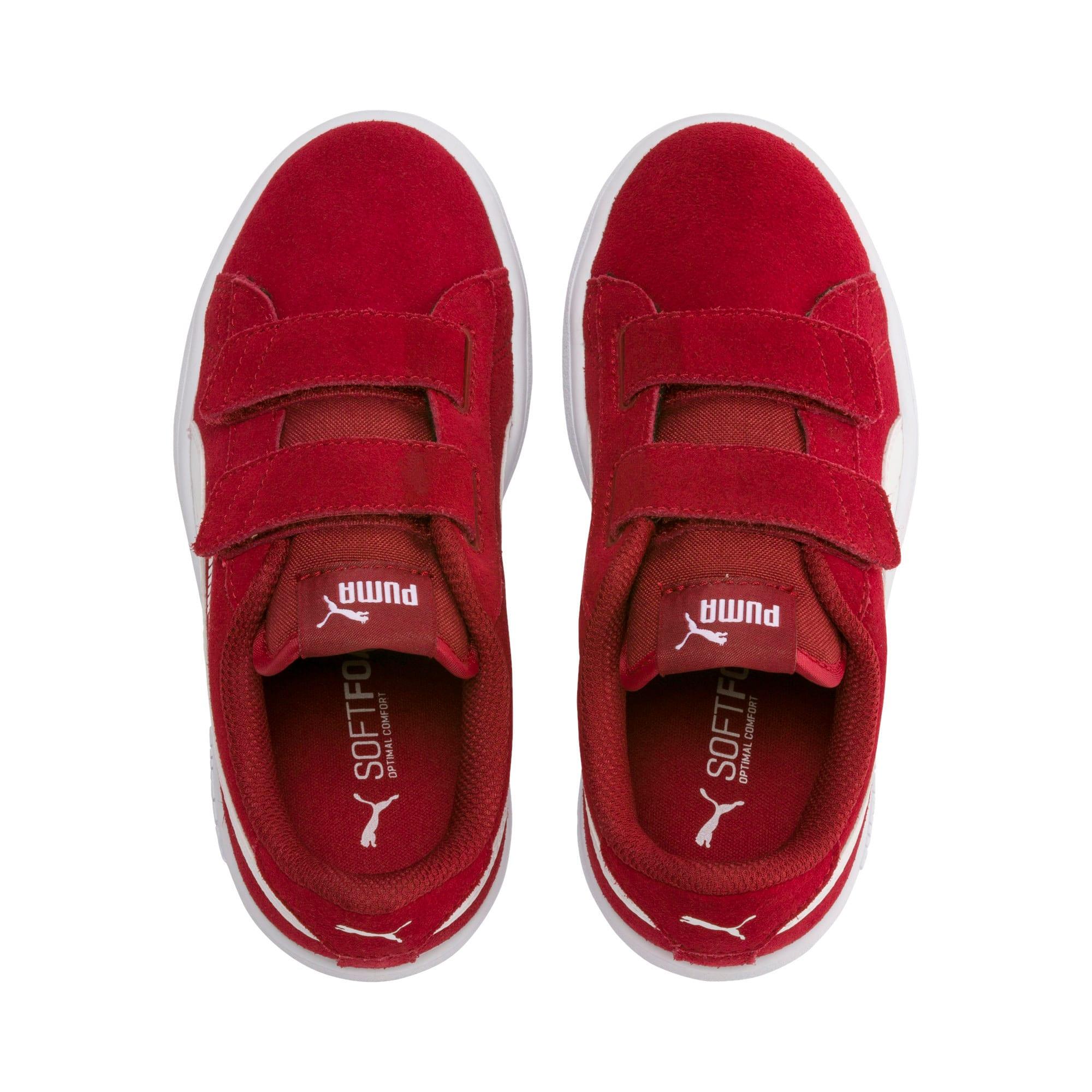 Thumbnail 6 of Smash v2 Suede Little Kids' Shoes, Rhubarb-Puma White, medium
