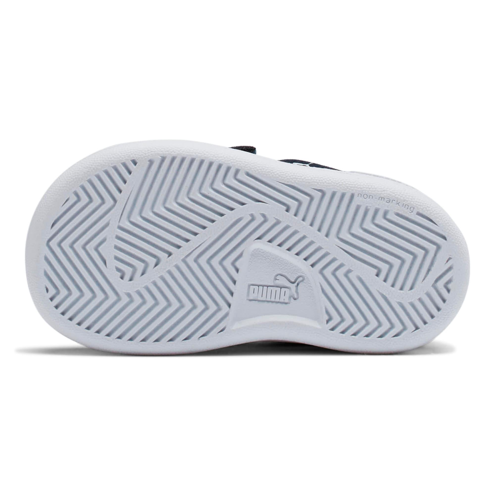 Miniatura 4 de ZapatosPUMA Smash v2Suede para bebés, Peacoat-Puma White, mediano