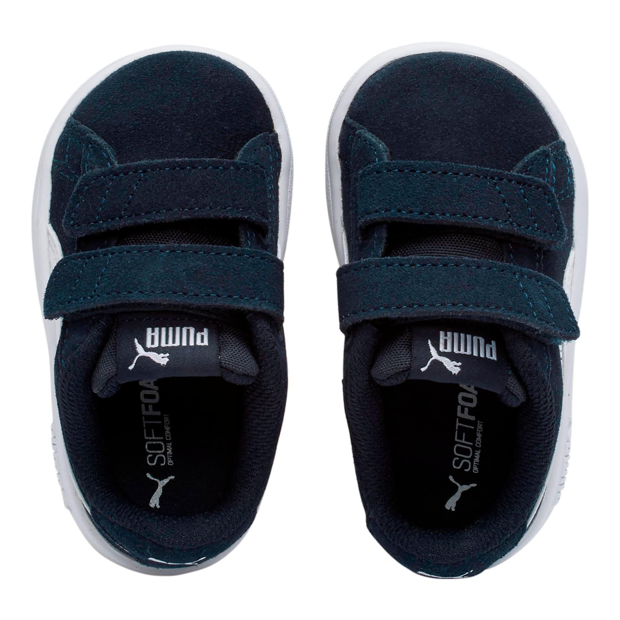 Miniatura 6 de ZapatosPUMA Smash v2Suede para bebés, Peacoat-Puma White, mediano