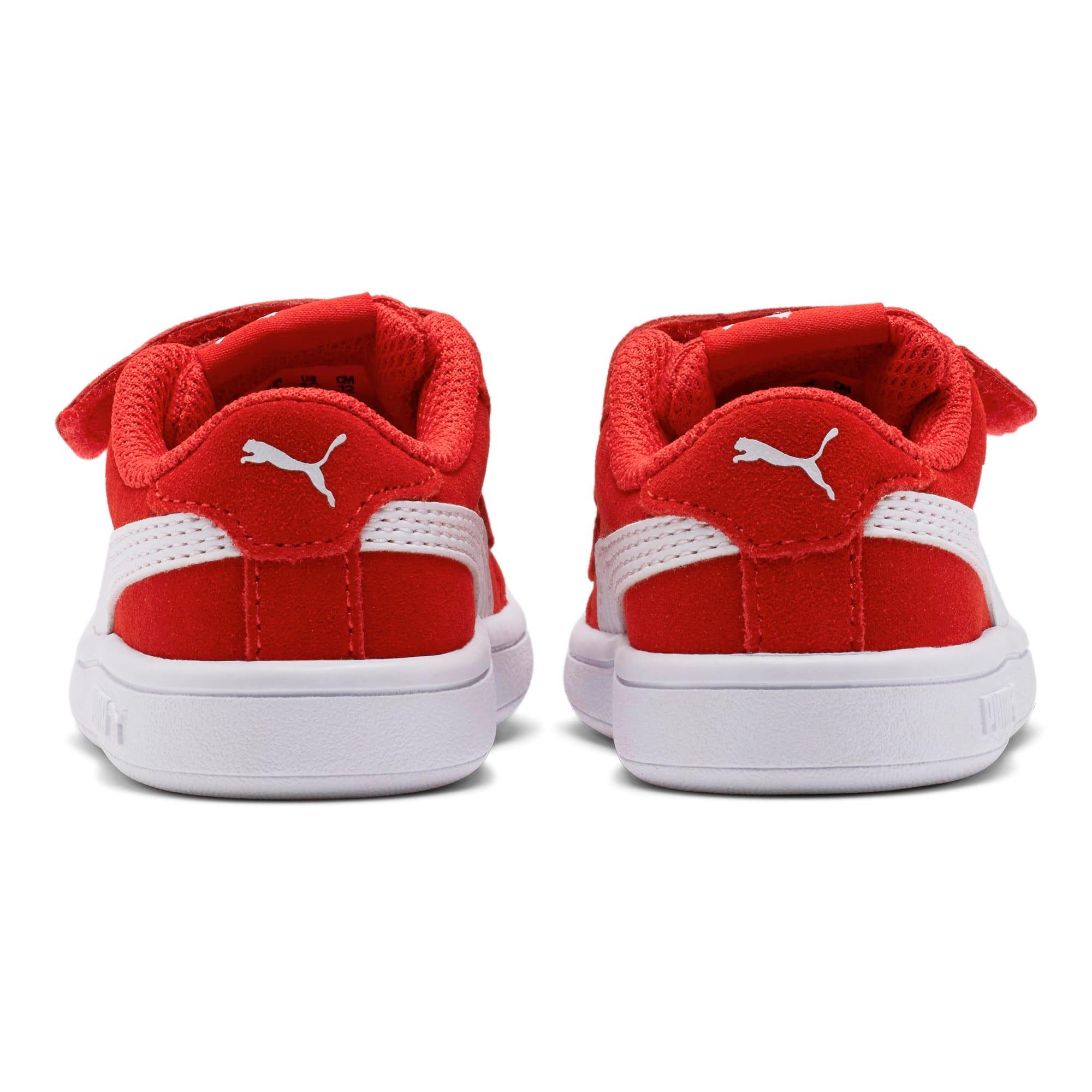 Thumbnail 4 of PUMA Smash v2 Suede Toddler Shoes, High Risk Red-Puma White, medium