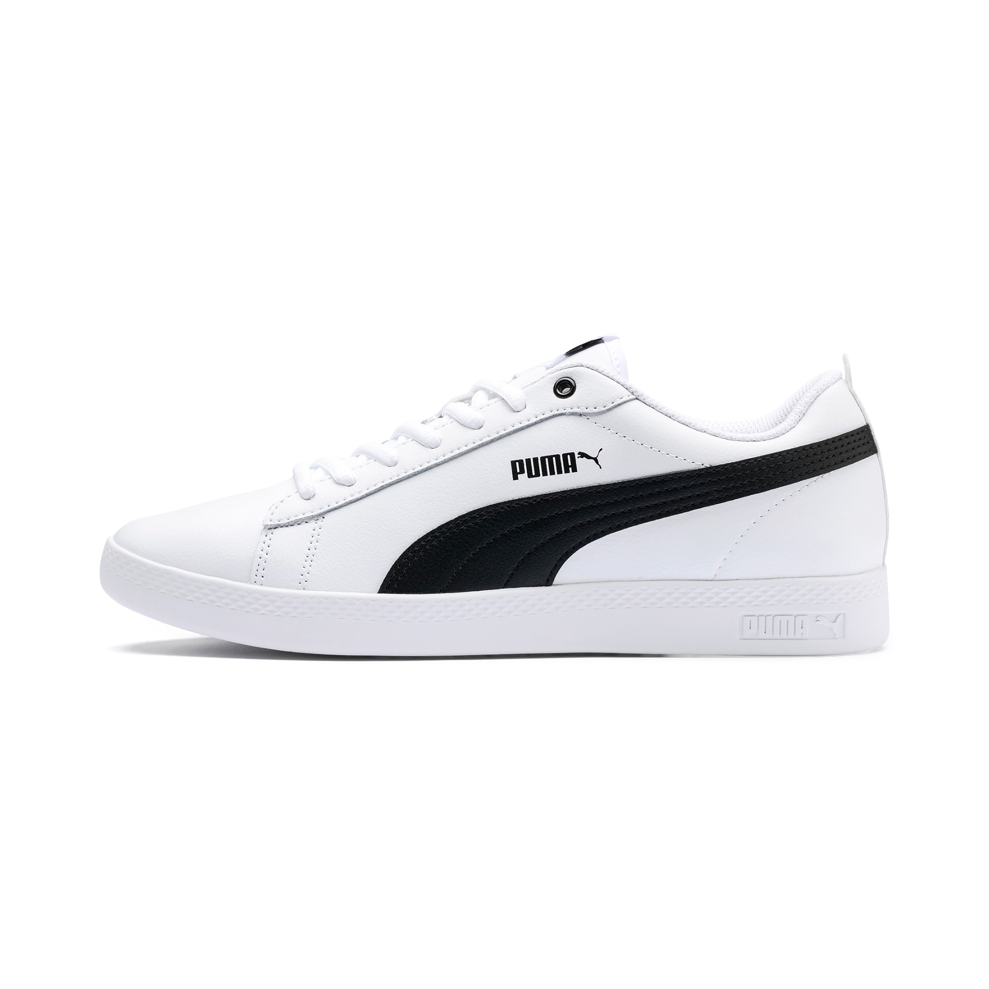 Smash v2 Leather Women's Sneakers   White puma sneakers