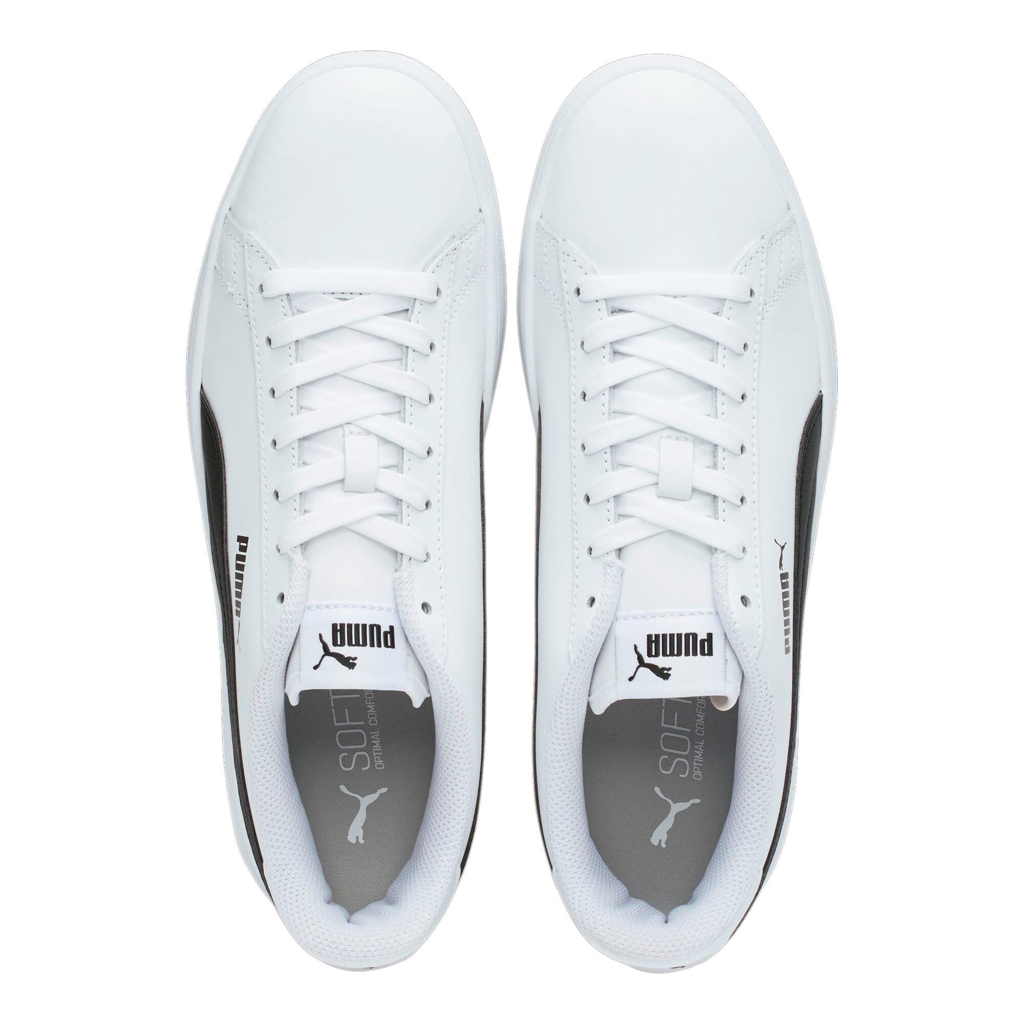 Thumbnail 6 of PUMA Smash v2 Sneakers, Puma White-Puma Black, medium