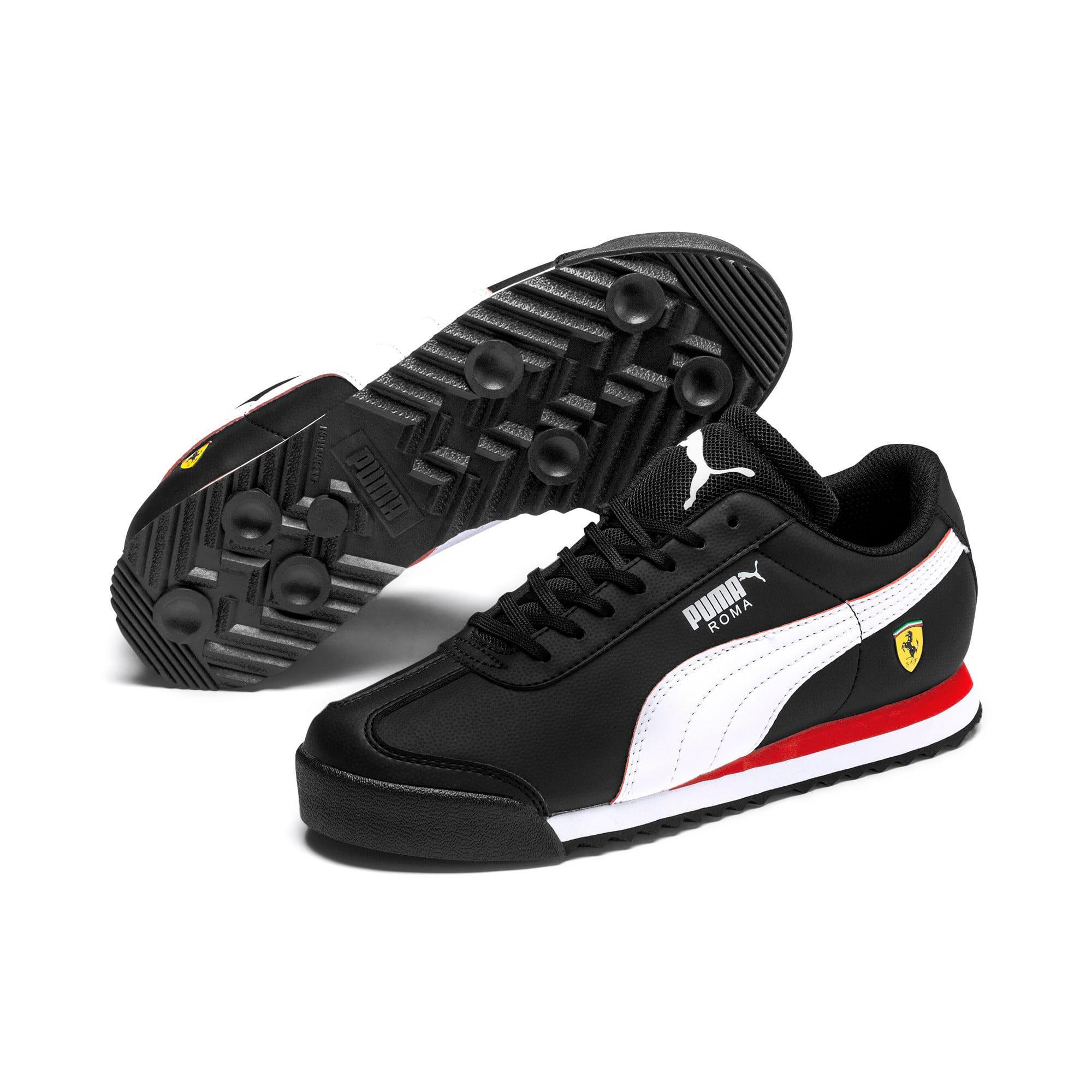 Thumbnail 6 of Ferrari Roma Youth Trainers, Black-White-Rosso Corsa, medium-IND